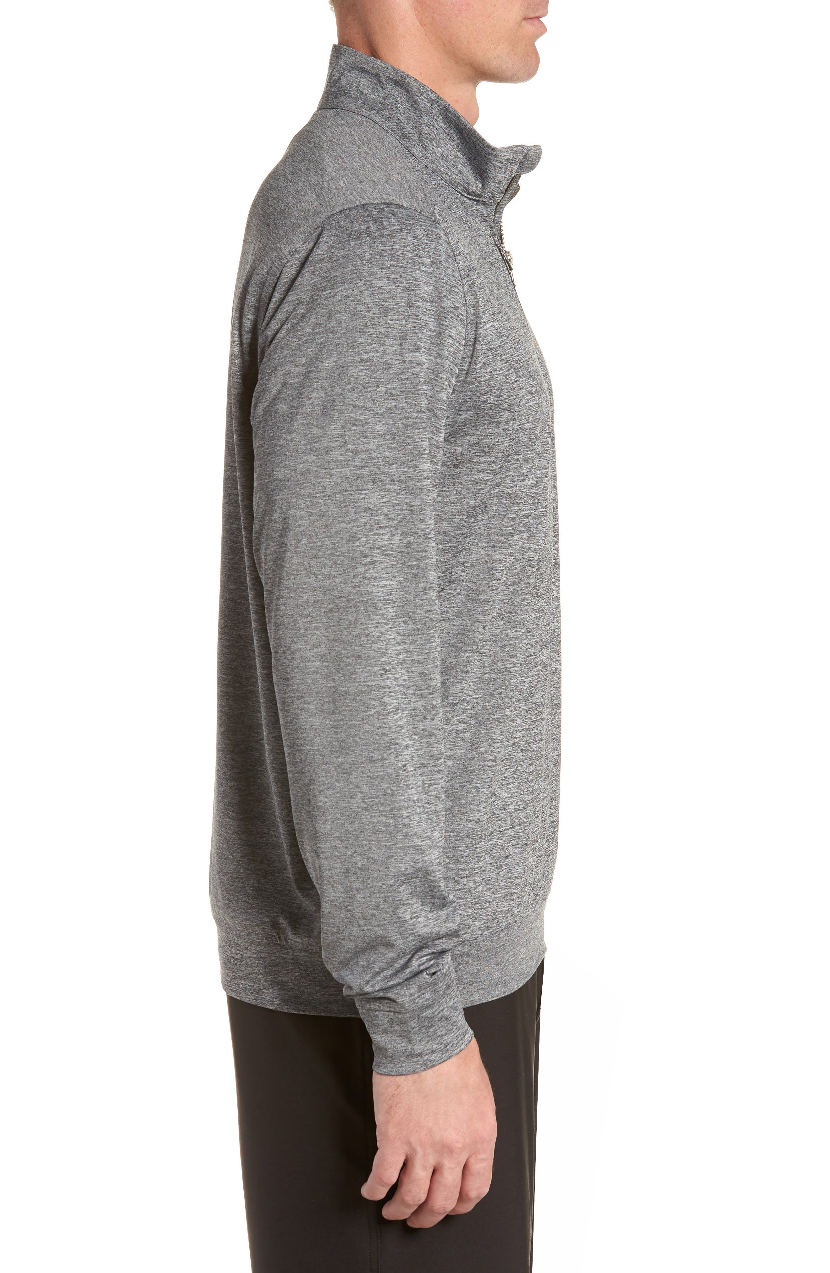 Stealth Regular Fit Half Zip Pullover,                             Alternate thumbnail 3, color,                             ELEMENTAL GREY