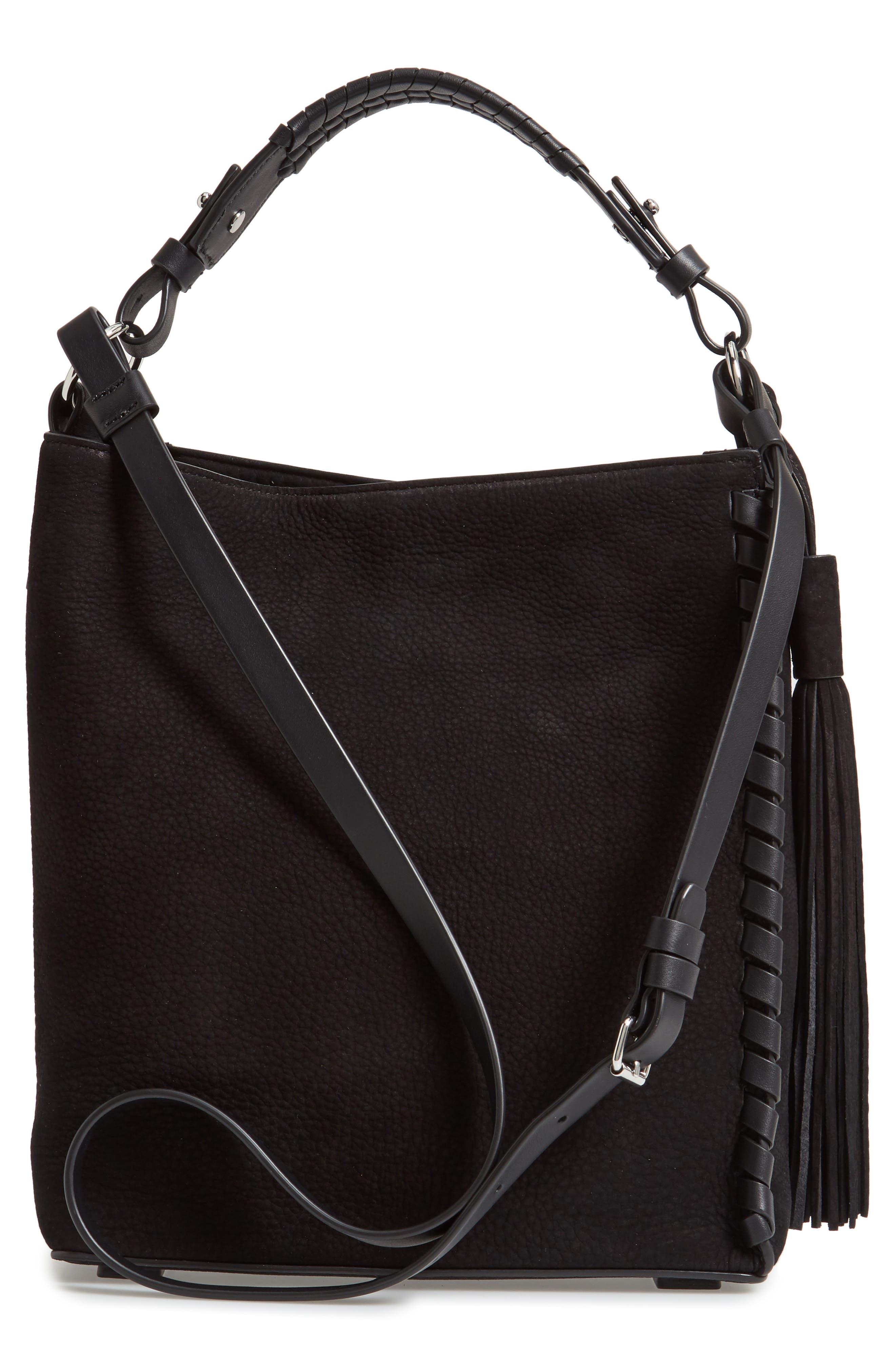ALLSAINTS,                             Kepi Shoulder Bag,                             Alternate thumbnail 3, color,                             006