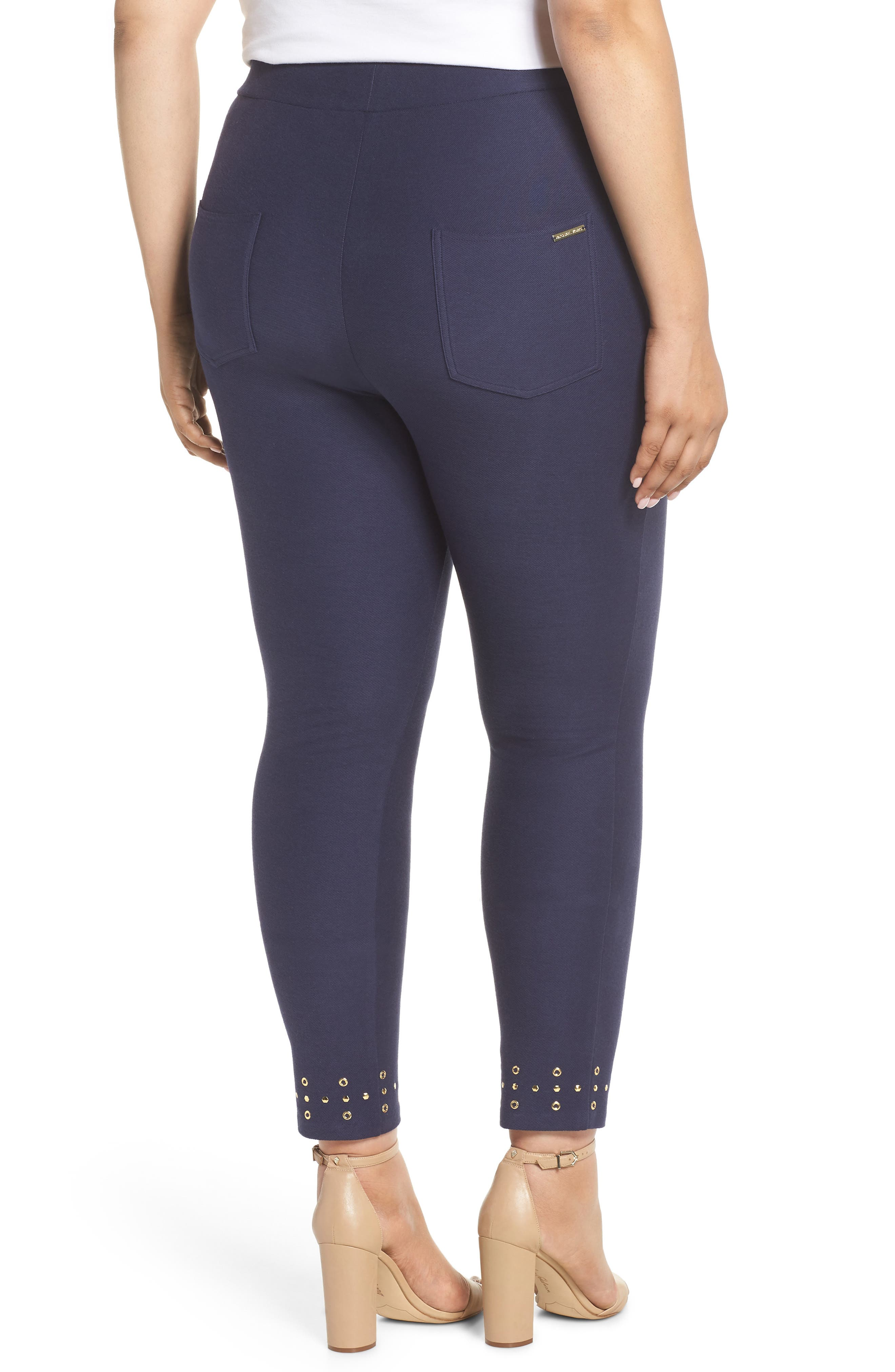 Embellished Cuff Leggings,                             Alternate thumbnail 2, color,                             TRUE NAVY