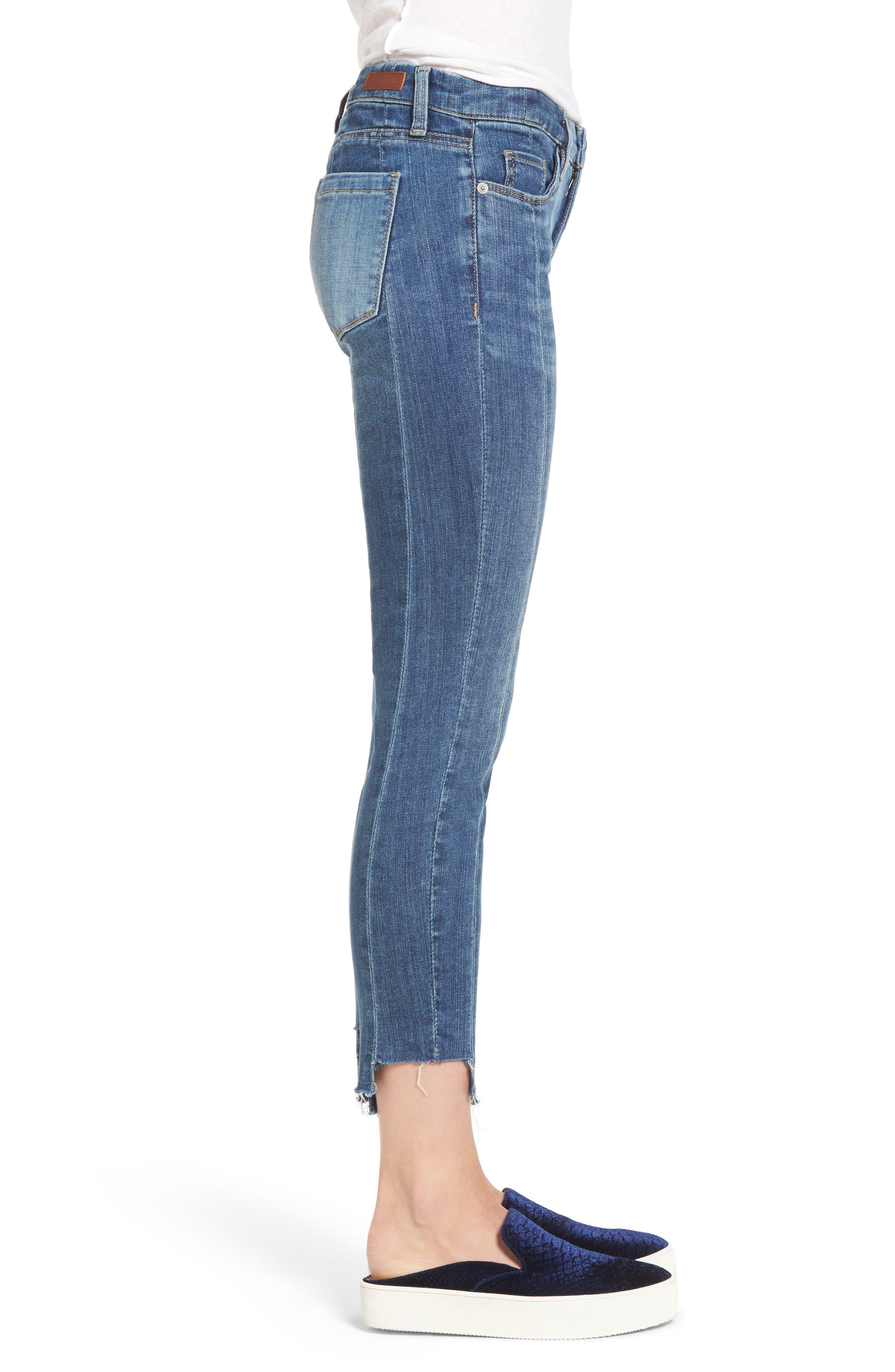 Step Hem Skinny Jeans,                             Alternate thumbnail 3, color,                             400