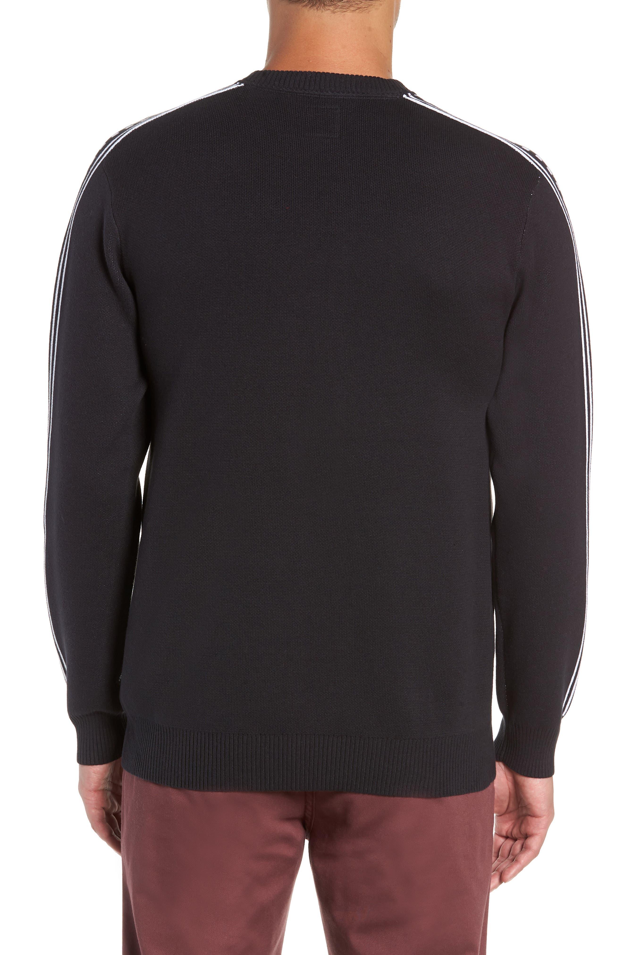 Check Yo Sleeve Crewneck Sweater,                             Alternate thumbnail 2, color,                             001