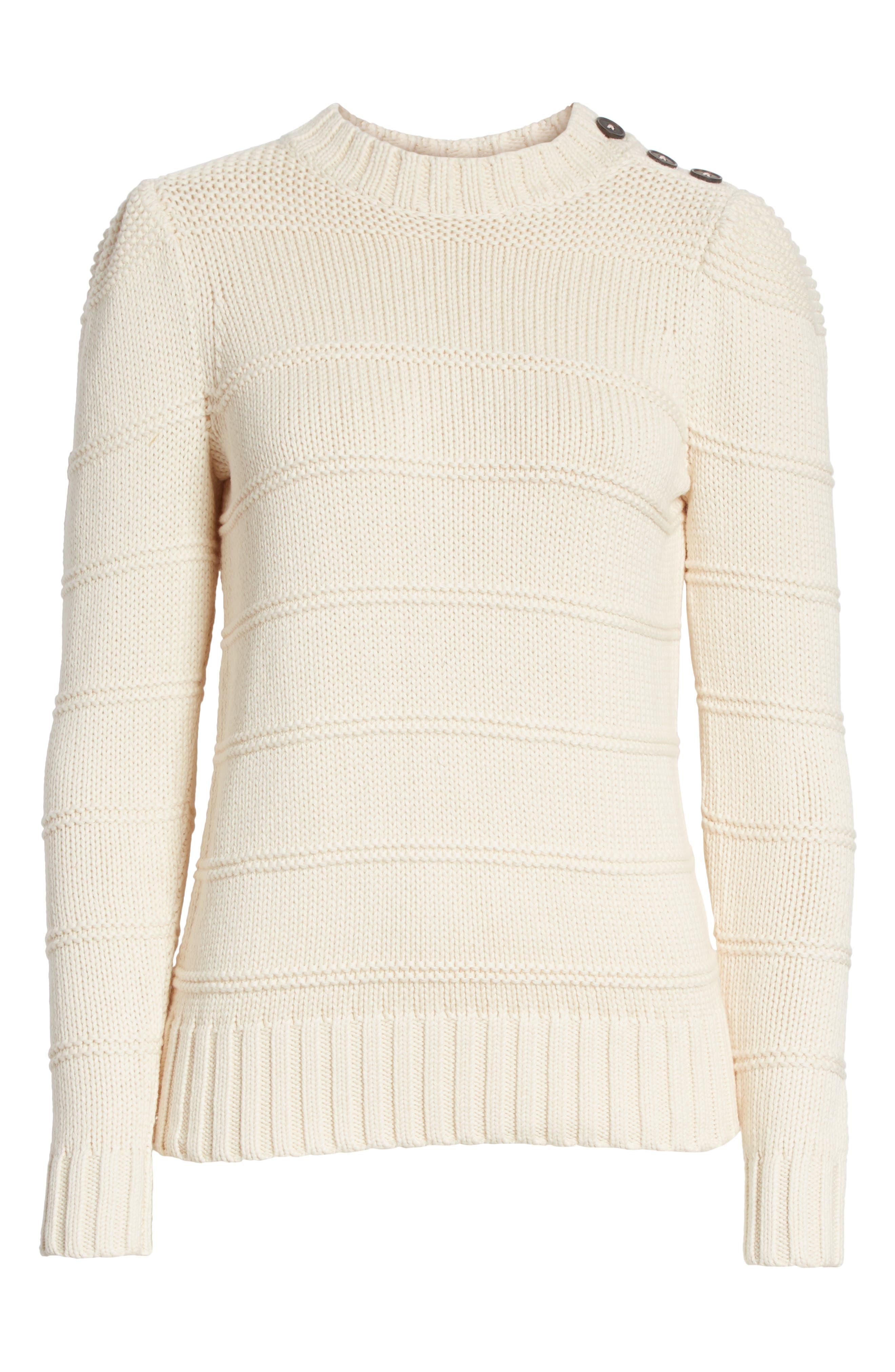 Stripe Cotton & Merino Wool Sweater,                             Alternate thumbnail 12, color,