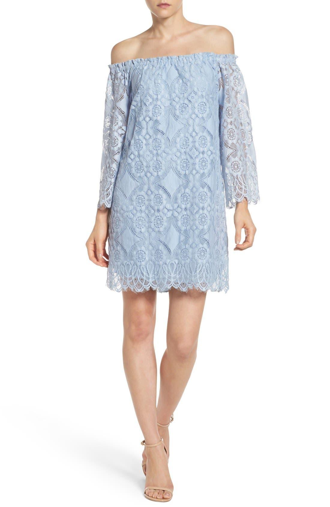 Halden A-Line Dress,                             Alternate thumbnail 3, color,                             460