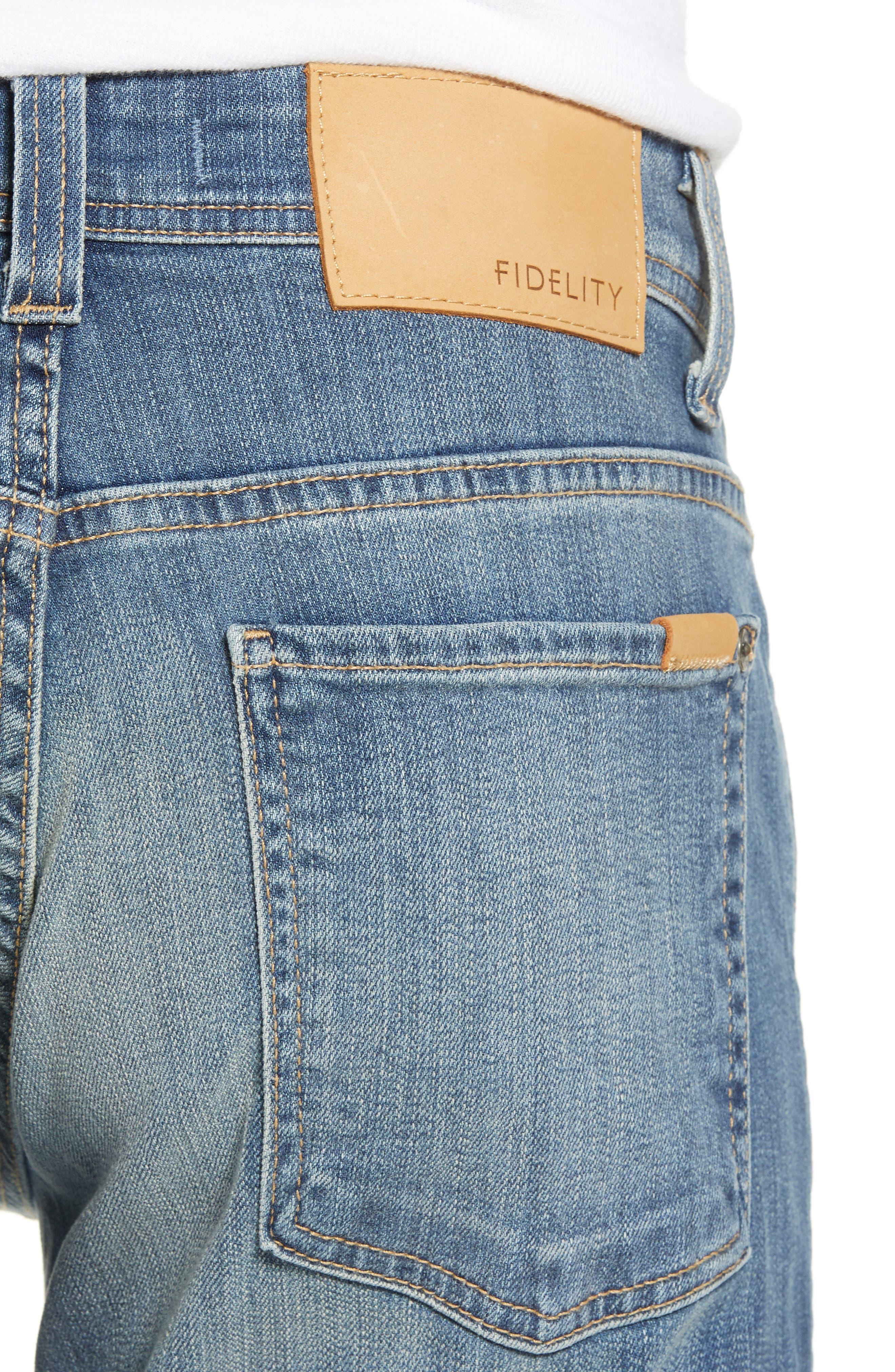 Jimmy Slim Straight Leg Jeans,                             Alternate thumbnail 4, color,                             SYNDICATE BLUE
