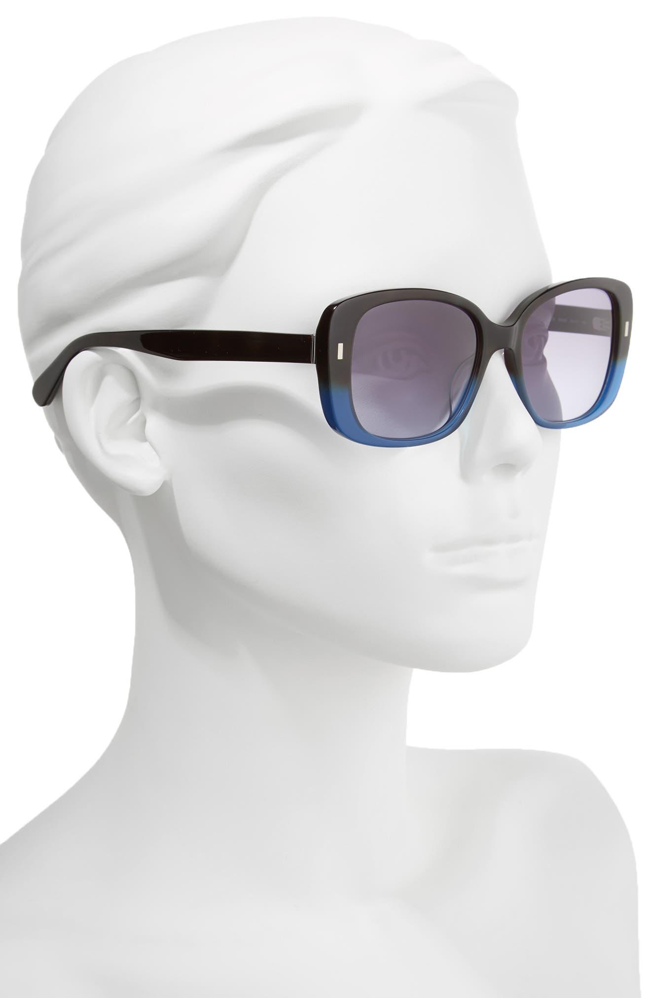 The Audrey 53mm Square Sunglasses,                             Alternate thumbnail 7, color,