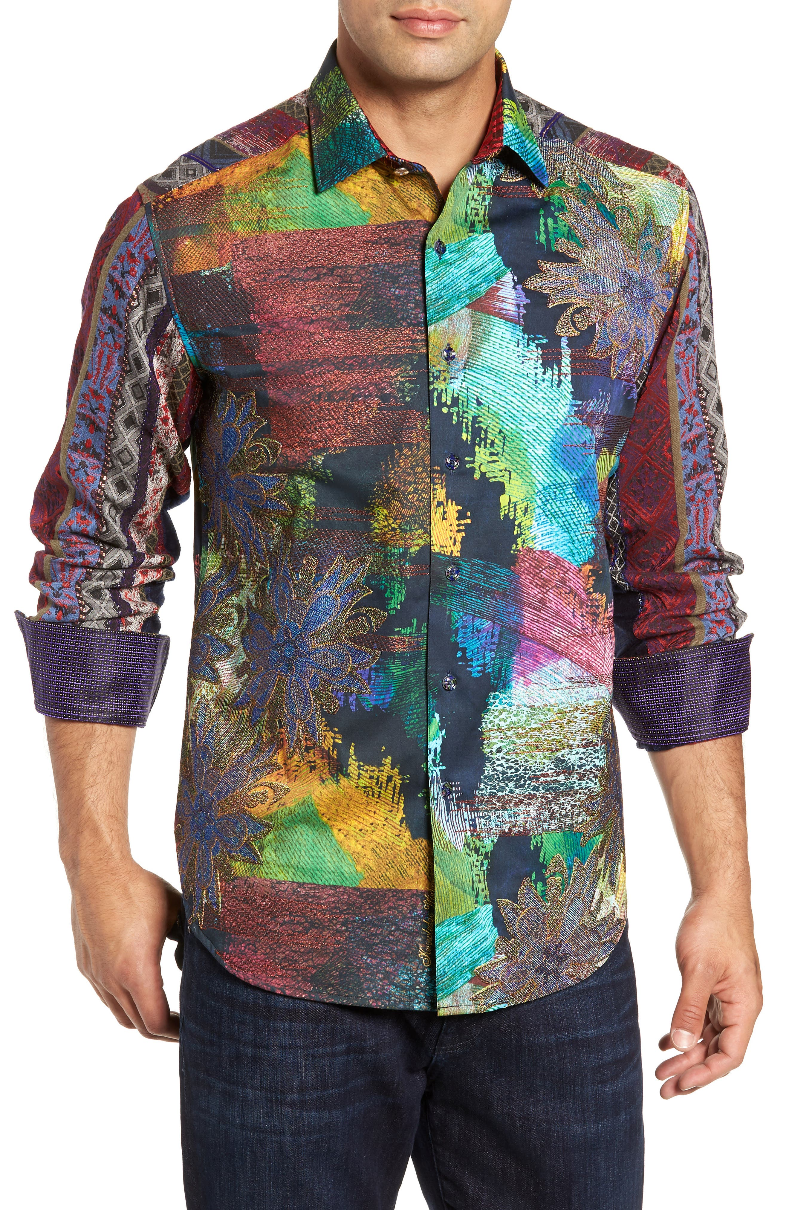 Riley's Dream Limited Edition Classic Fit Sport Shirt,                         Main,                         color, MULTI