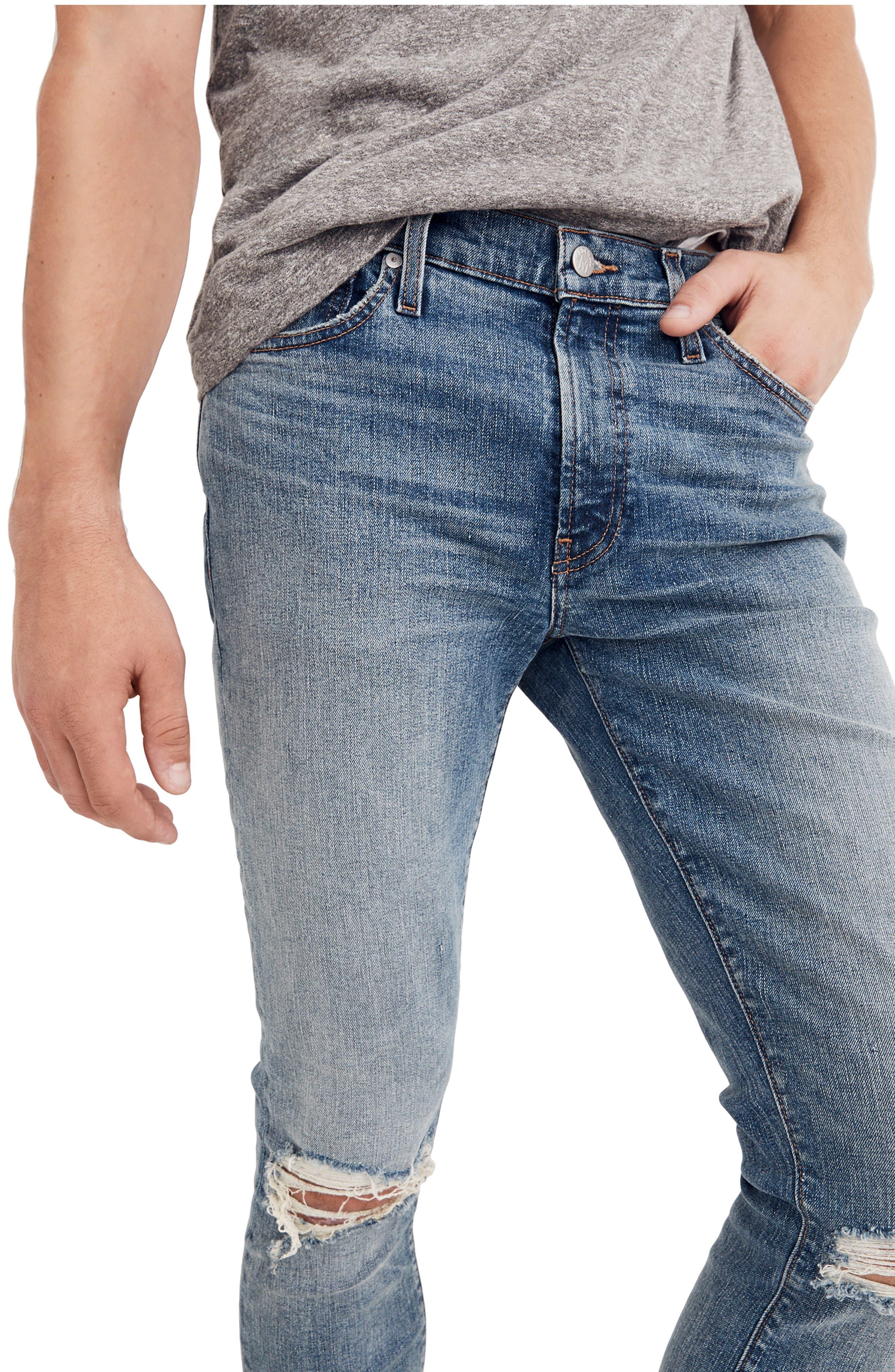 Skinny Fit Jeans,                             Alternate thumbnail 3, color,                             VINTAGE LIGHT