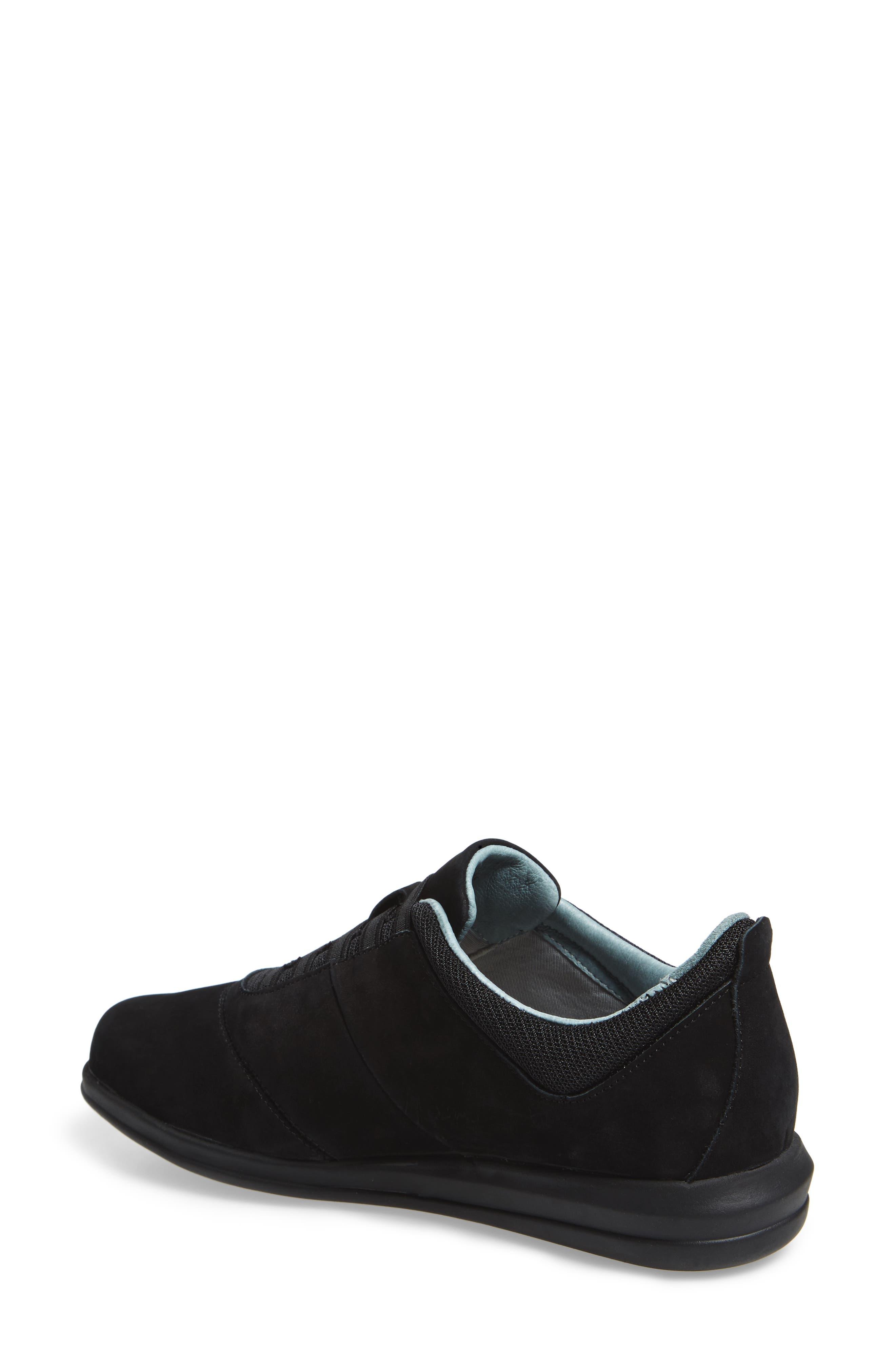 Dynamic Slip-On Sneaker,                             Alternate thumbnail 2, color,                             BLACK NUBUCK