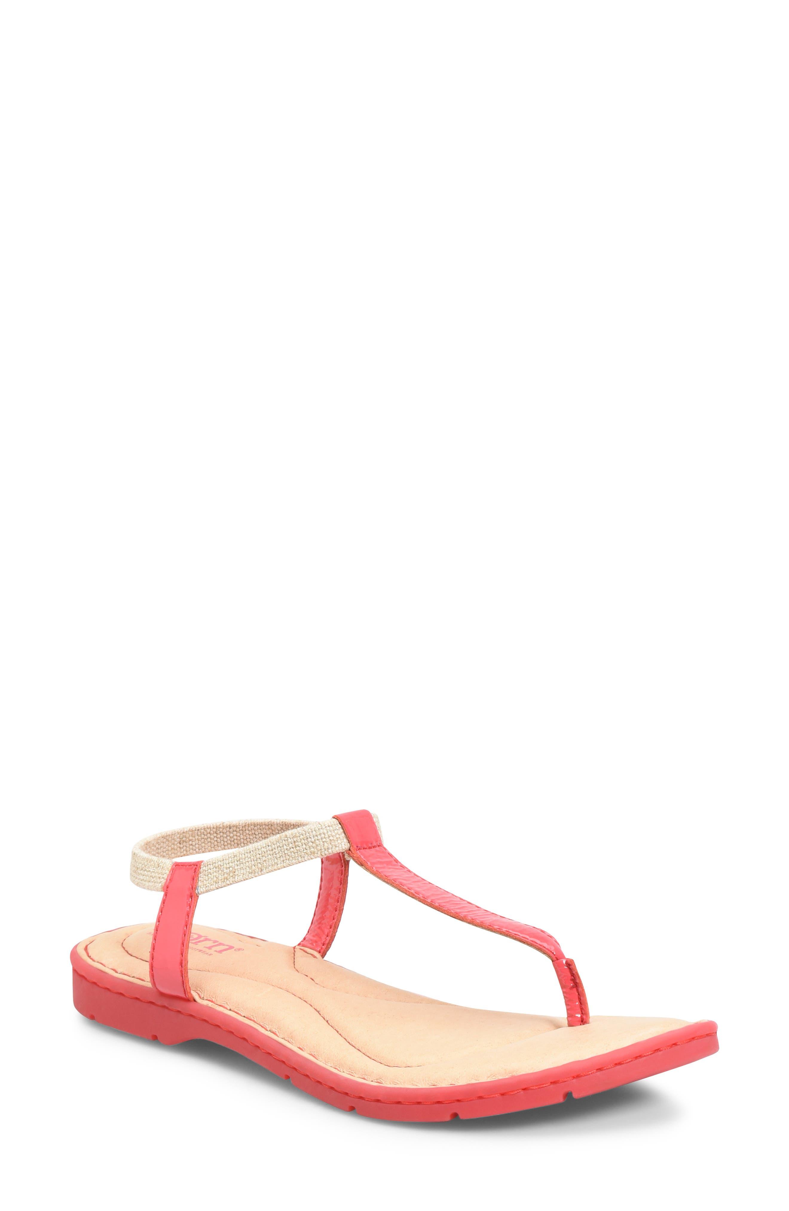 B?rn Trinity T-Strap Sandal, Red
