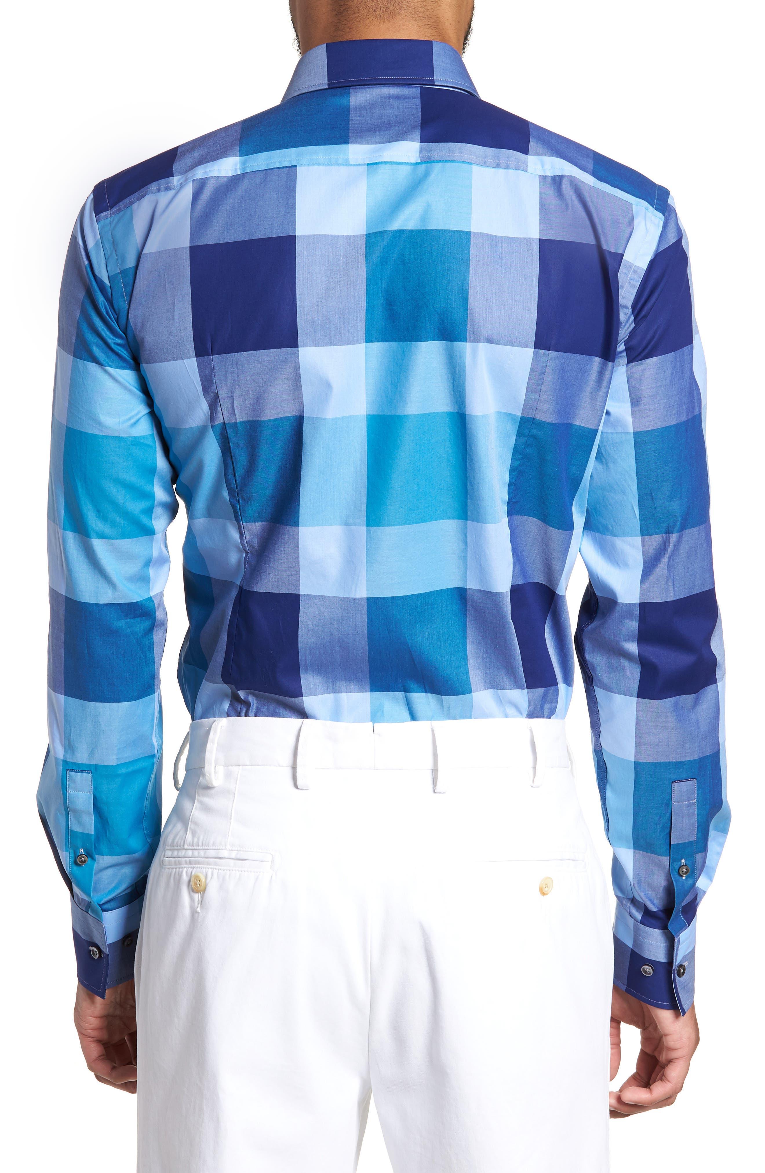 Jenno Slim Fit Check Dress Shirt,                             Alternate thumbnail 3, color,                             473