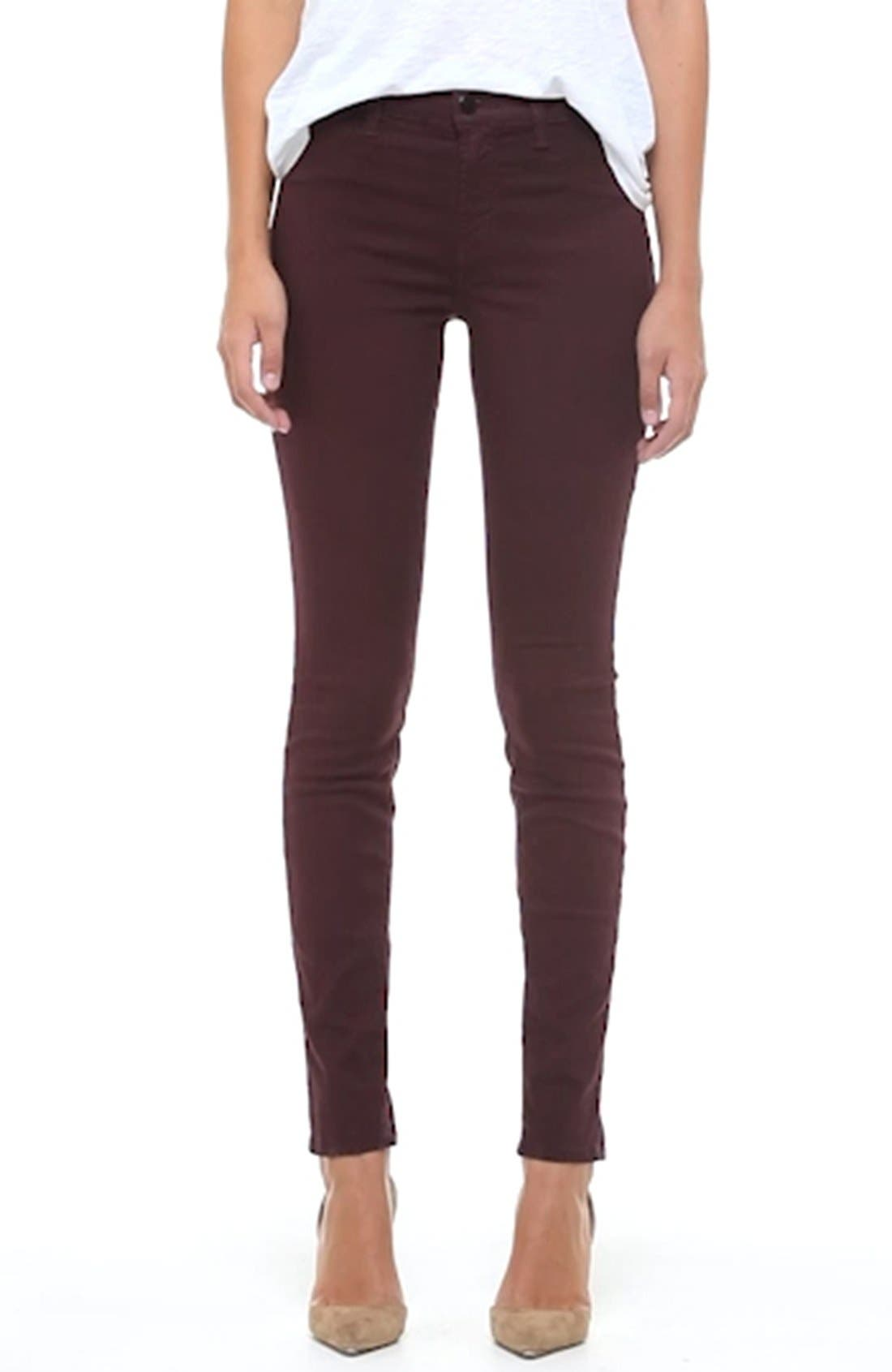 High Waist Ankle Super Skinny Jeans,                             Alternate thumbnail 68, color,