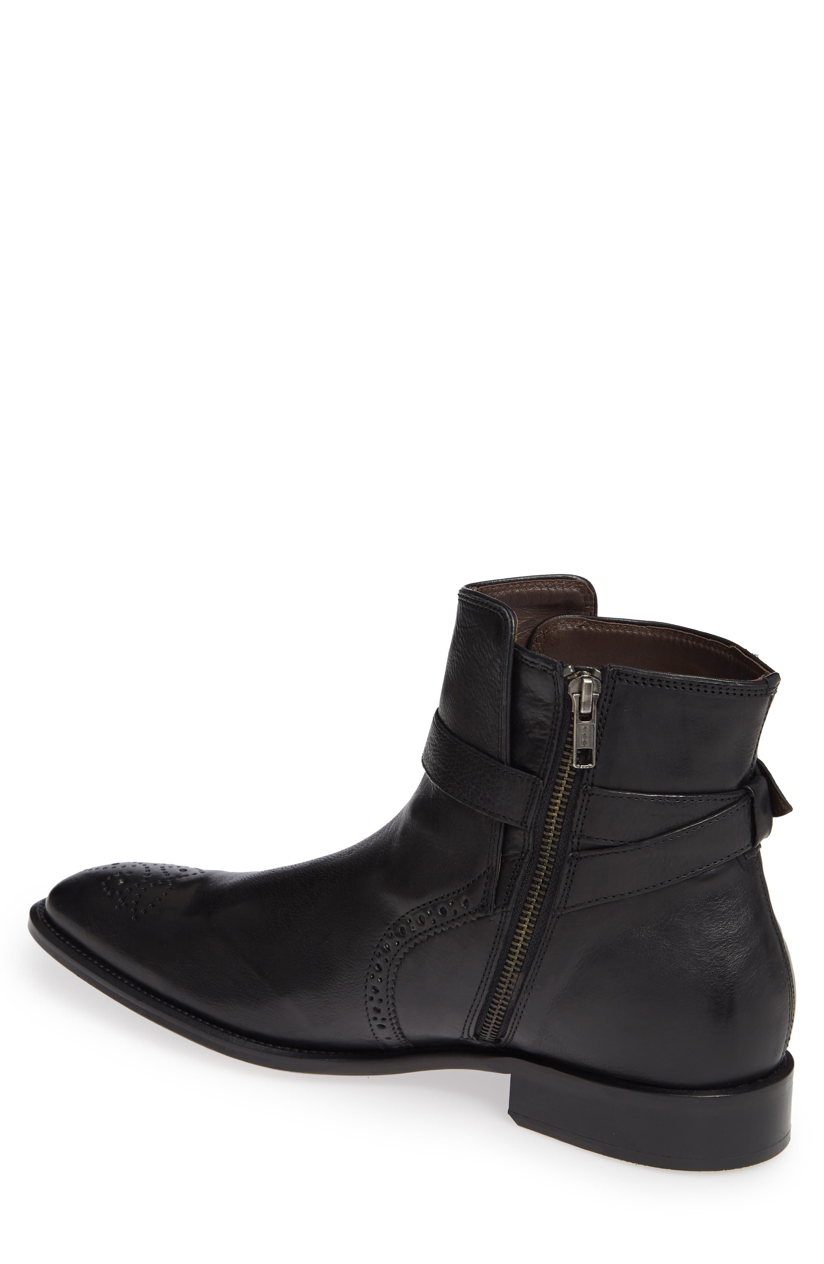 Maxwell Zip Boot,                             Alternate thumbnail 2, color,                             BLACK LEATHER