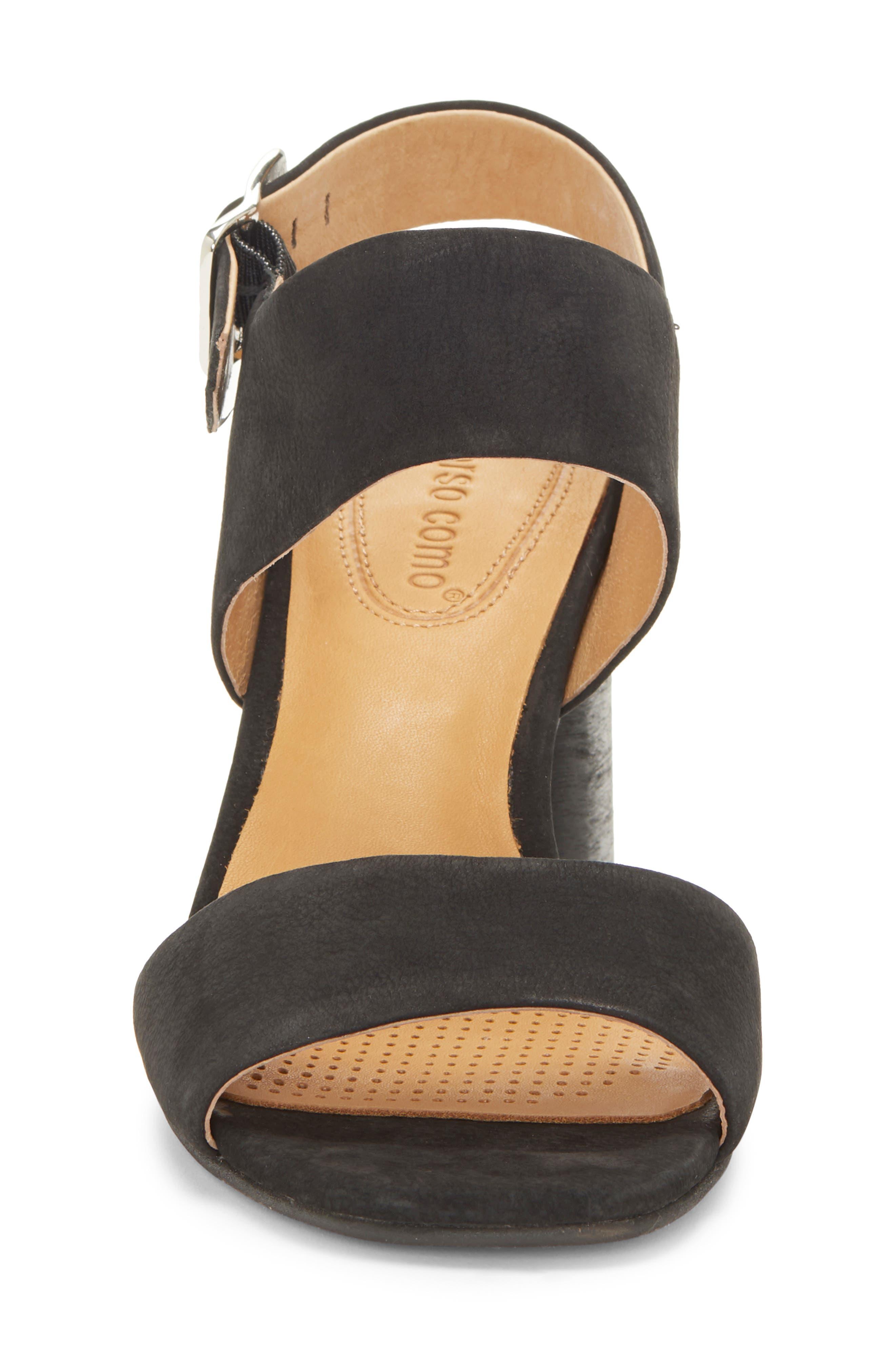 CC CORSO COMO<SUP>®</SUP>,                             CC Corso Como Prysm Block Heel Sandal,                             Alternate thumbnail 4, color,                             BLACK LEATHER