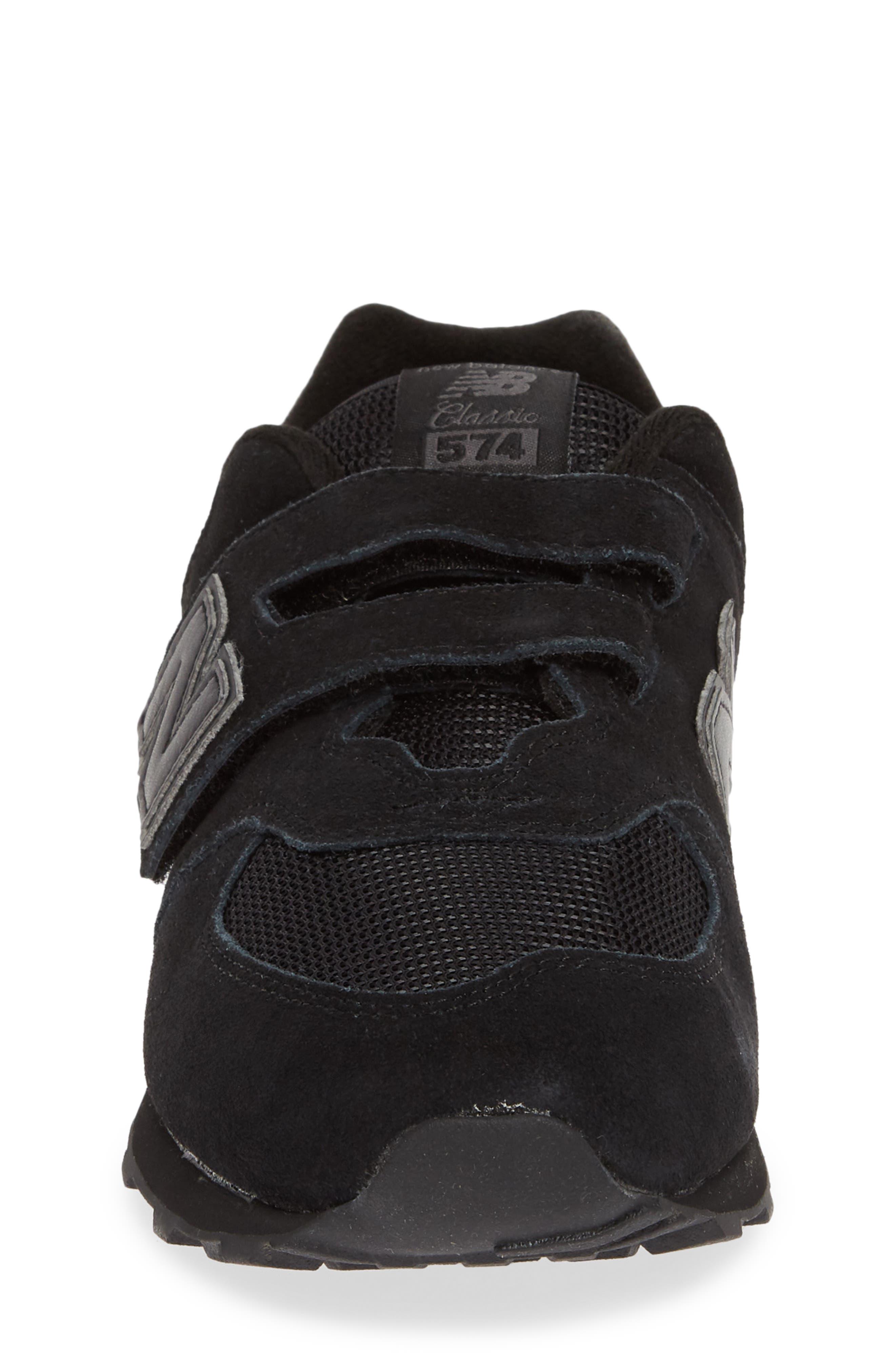 NEW BALANCE,                             574 Retro Surf Sneaker,                             Alternate thumbnail 4, color,                             BLACK/ BLACK