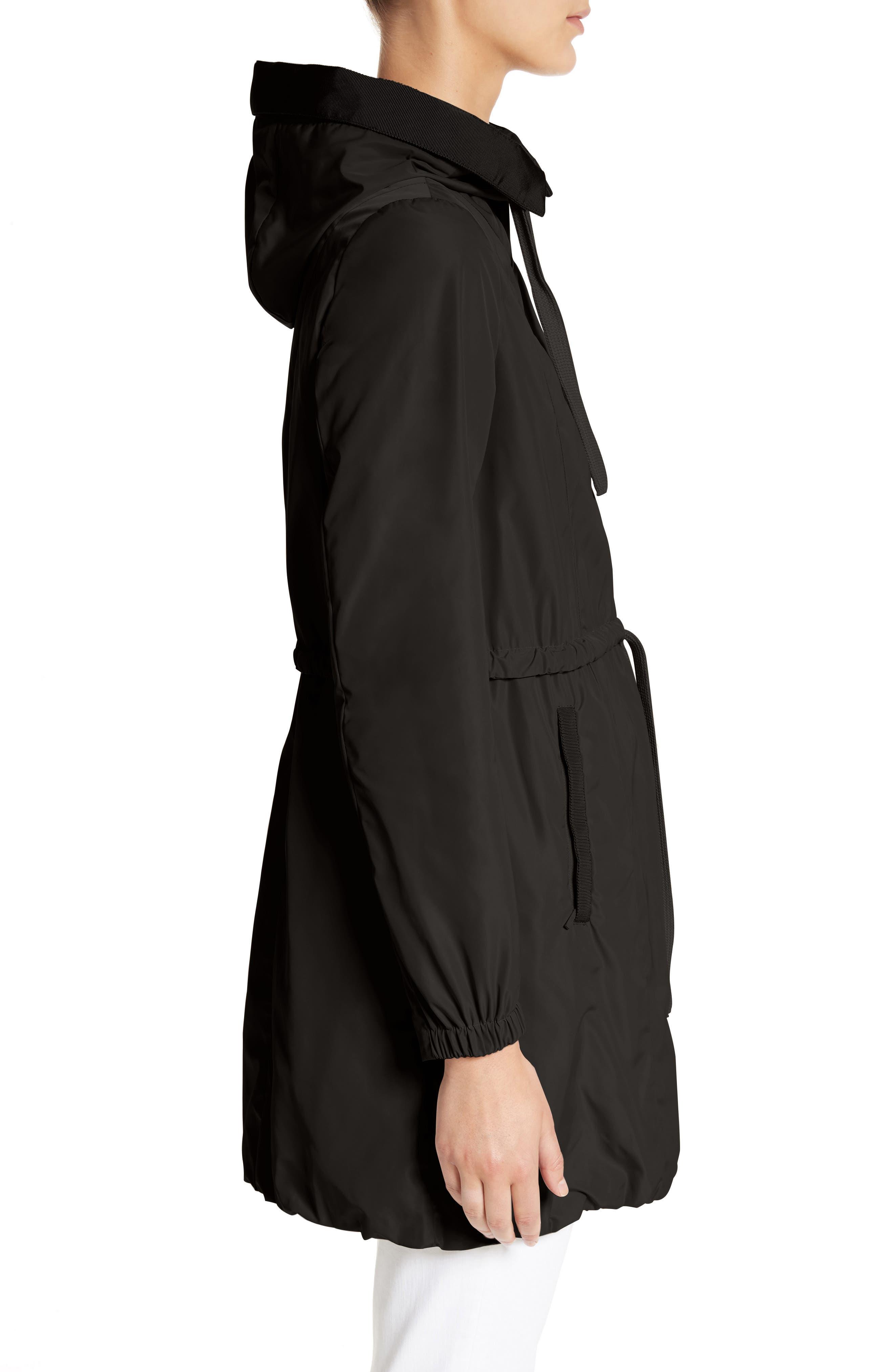 Topaze Water Resistant Hooded Jacket,                             Alternate thumbnail 3, color,                             BLACK