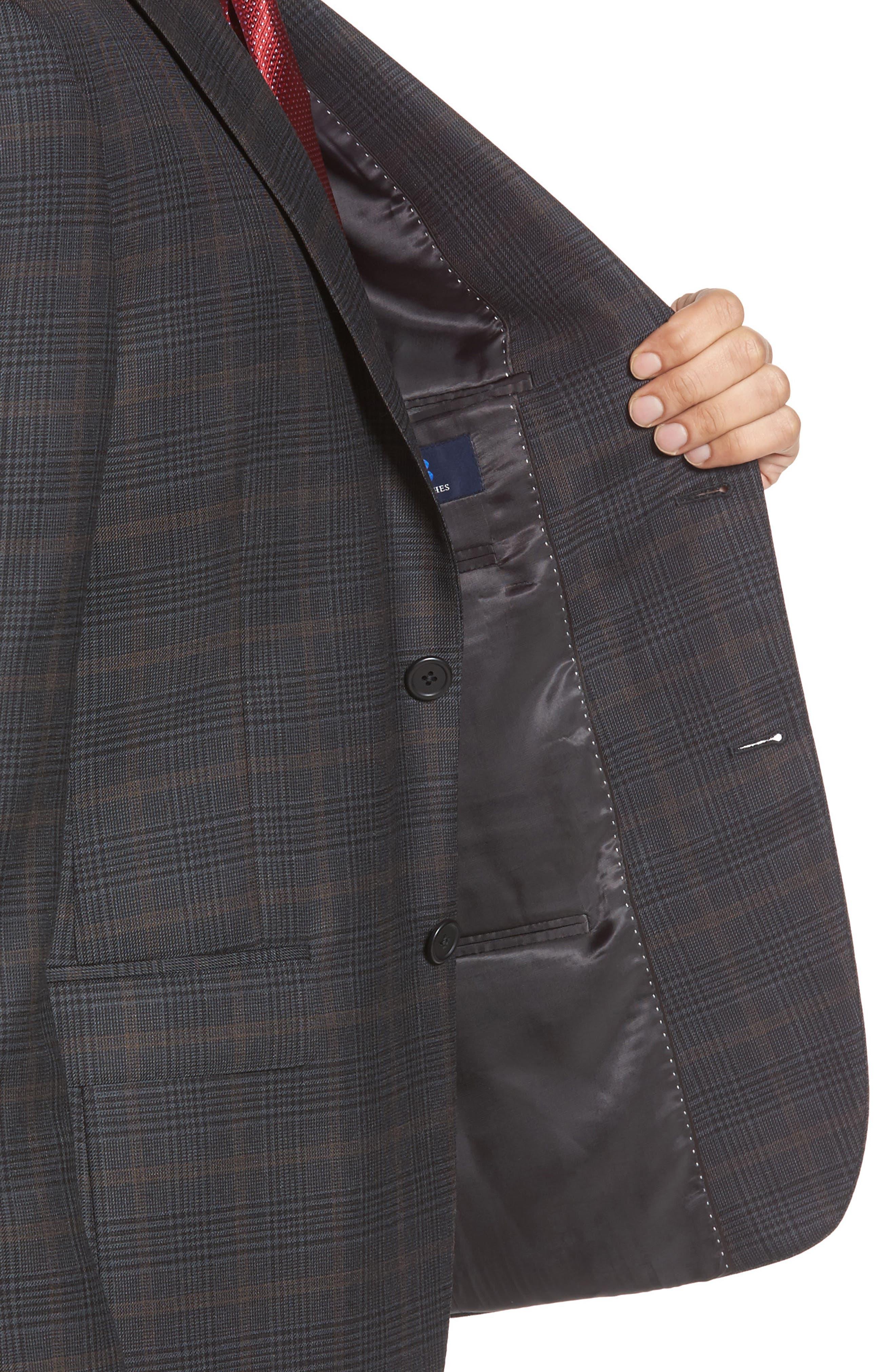 Classic Fit Plaid Wool Sport Coat,                             Alternate thumbnail 4, color,                             021