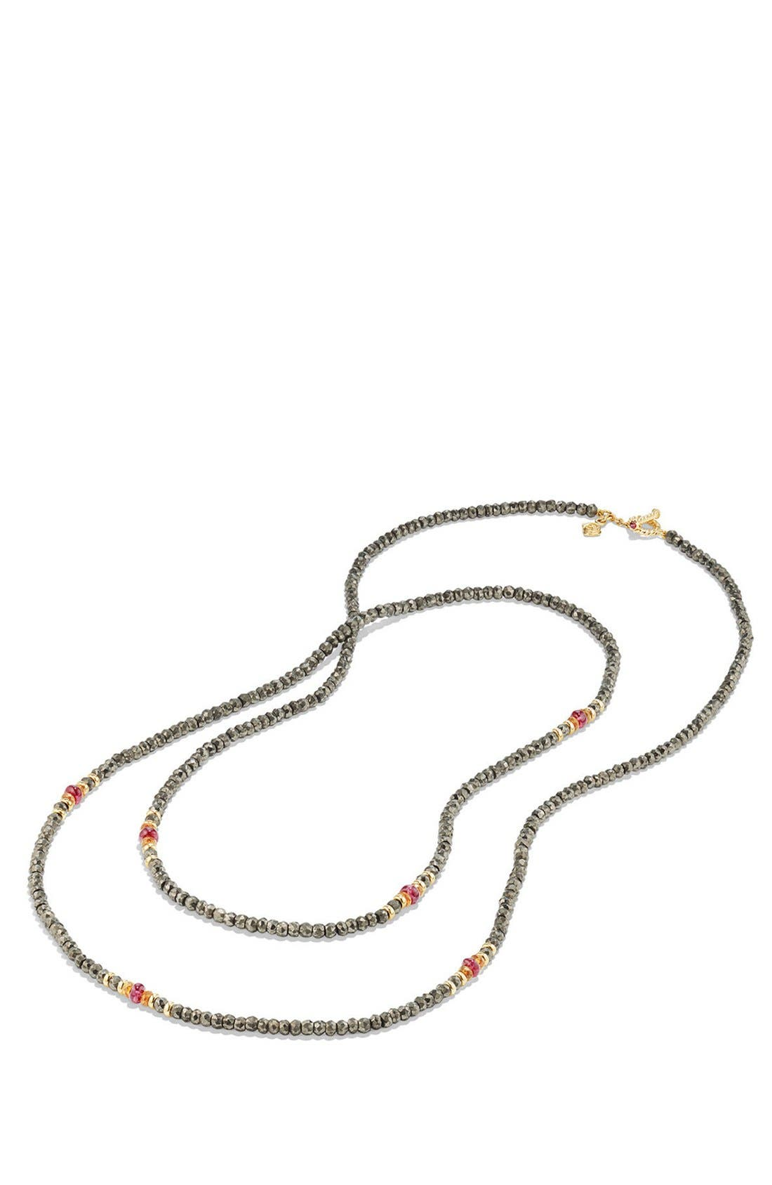 Cable Berries Tweejoux Necklace with 18K Gold,                             Alternate thumbnail 2, color,                             PYRITE