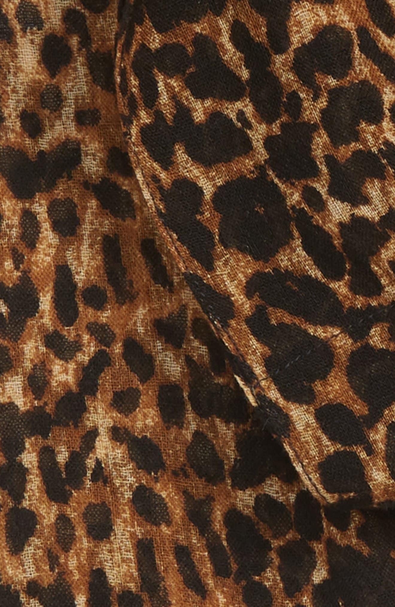 SAINT LAURENT,                             Random Skinny Wool Scarf,                             Alternate thumbnail 3, color,                             MARRON CLAIR/ NOIR