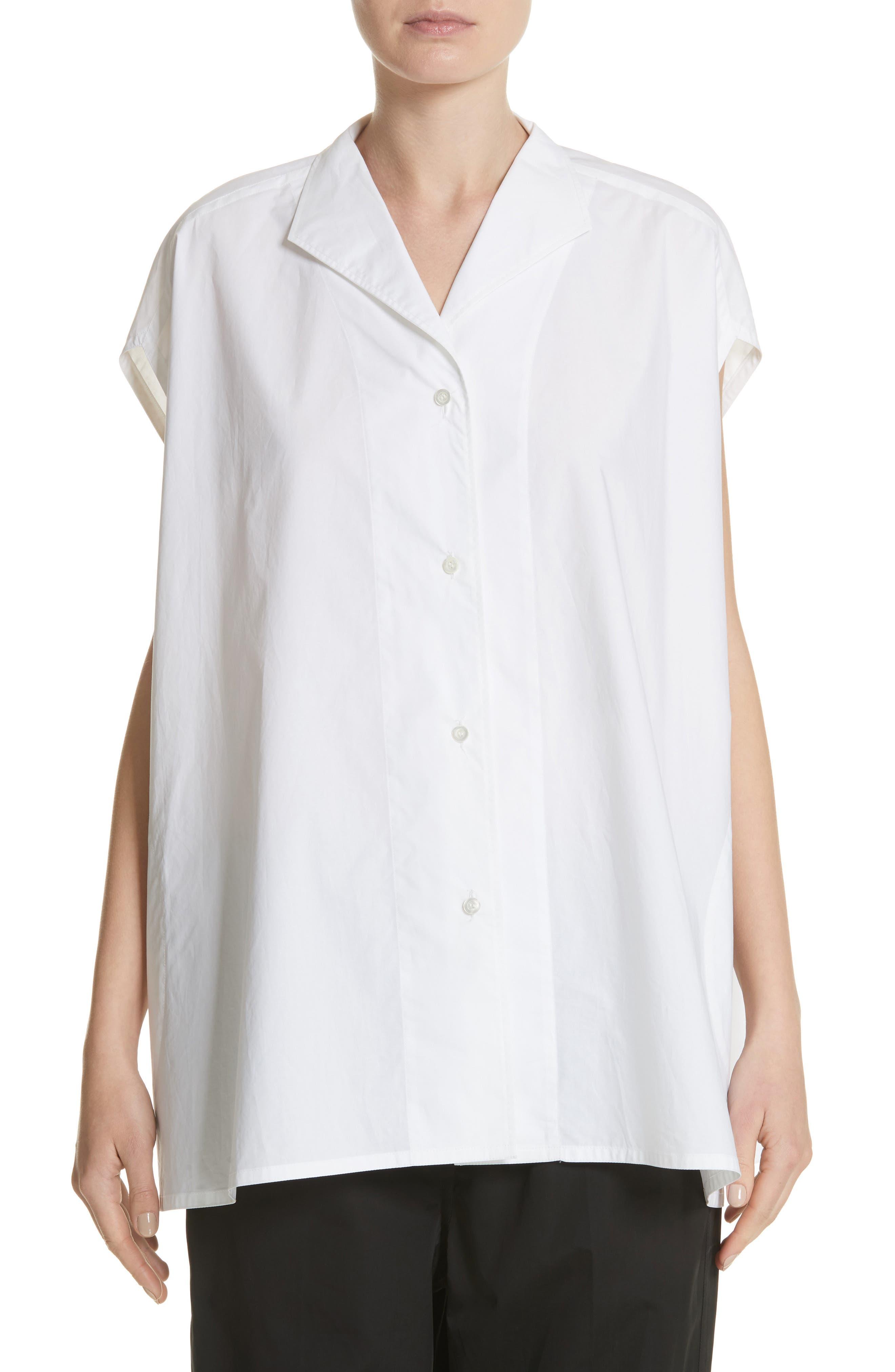 Sleeveless Cotton Blouse,                         Main,                         color,
