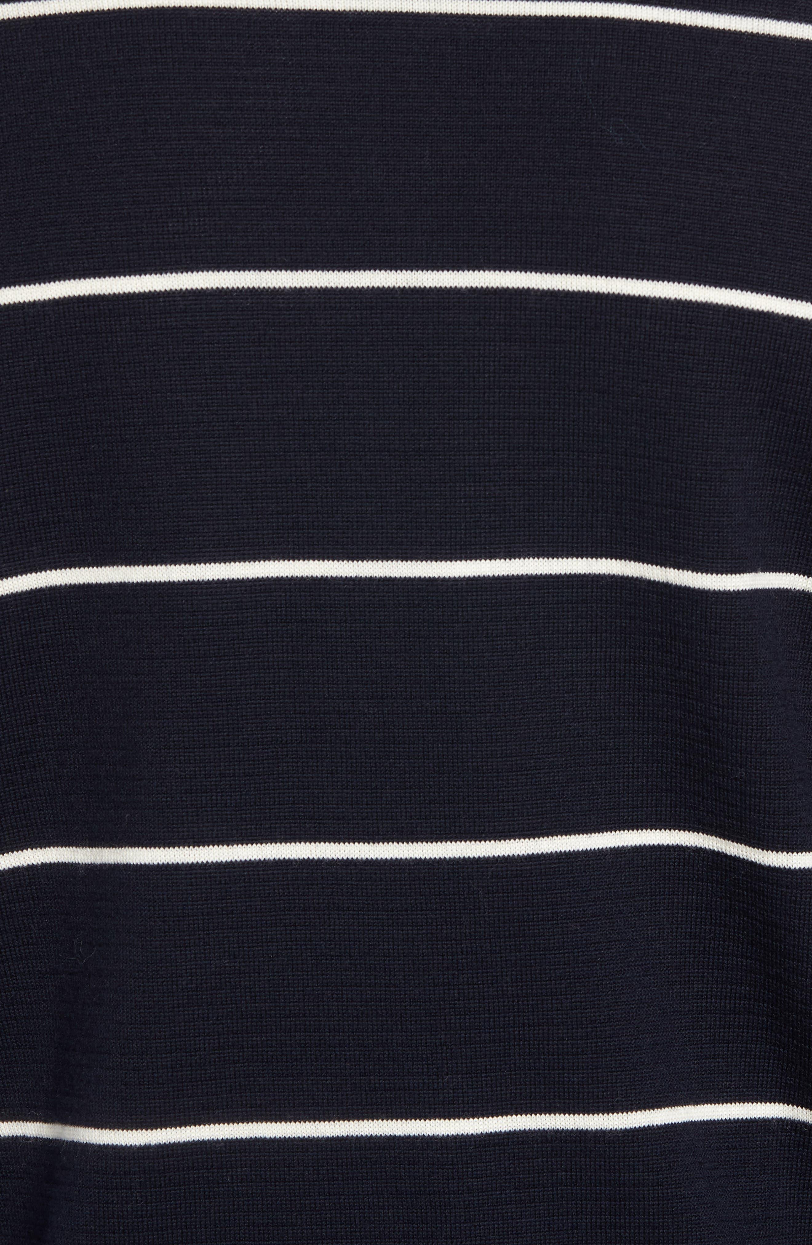 Slim Fit Stripe Crewneck Sweater,                             Alternate thumbnail 5, color,                             477