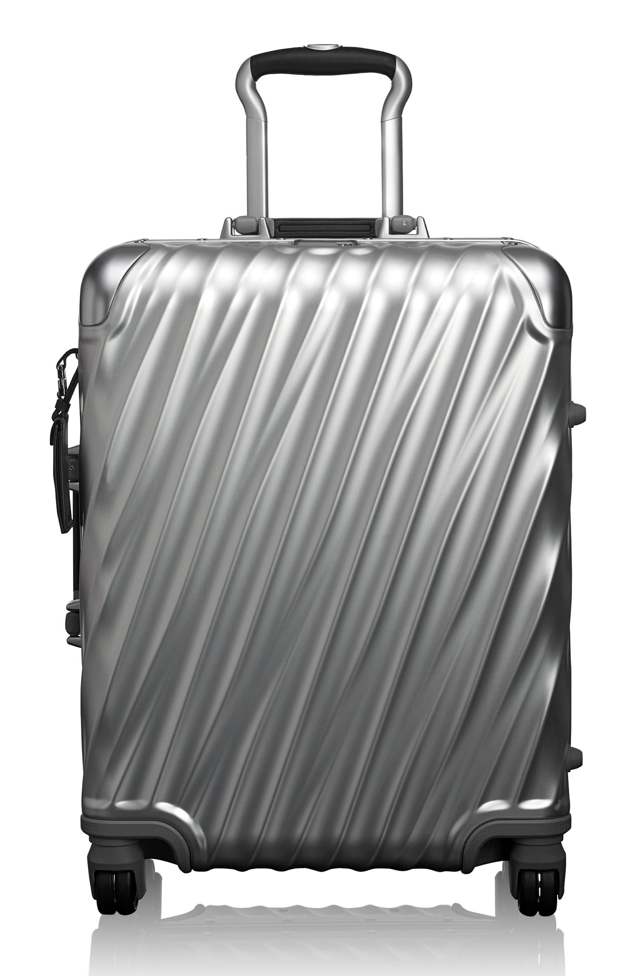 19 Degree 22-Inch Continental Wheeled Aluminum Carry-On,                         Main,                         color, SILVER