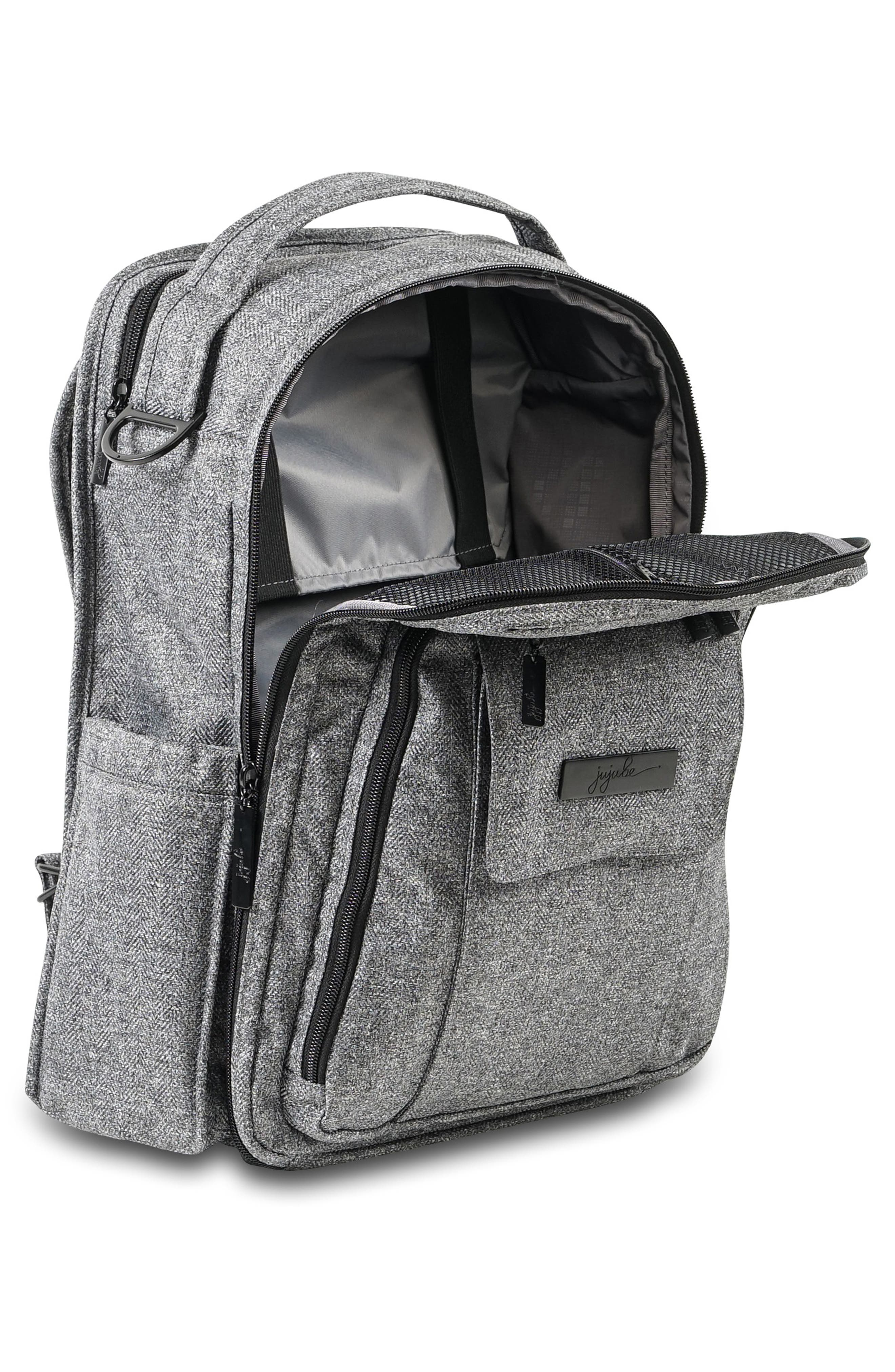 'Be Right Back - Onyx Collection' Diaper Backpack,                             Alternate thumbnail 3, color,                             GRAY MATTER