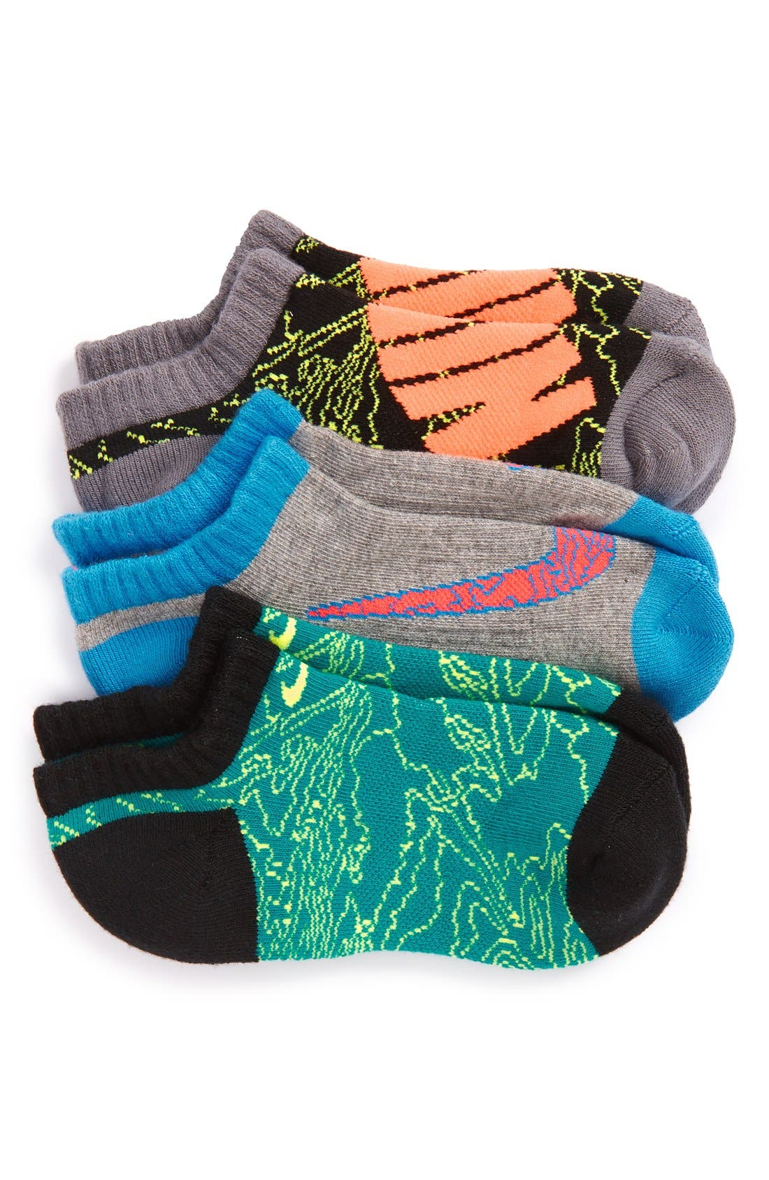 Performance 3-Pack No-Show Socks,                         Main,                         color,