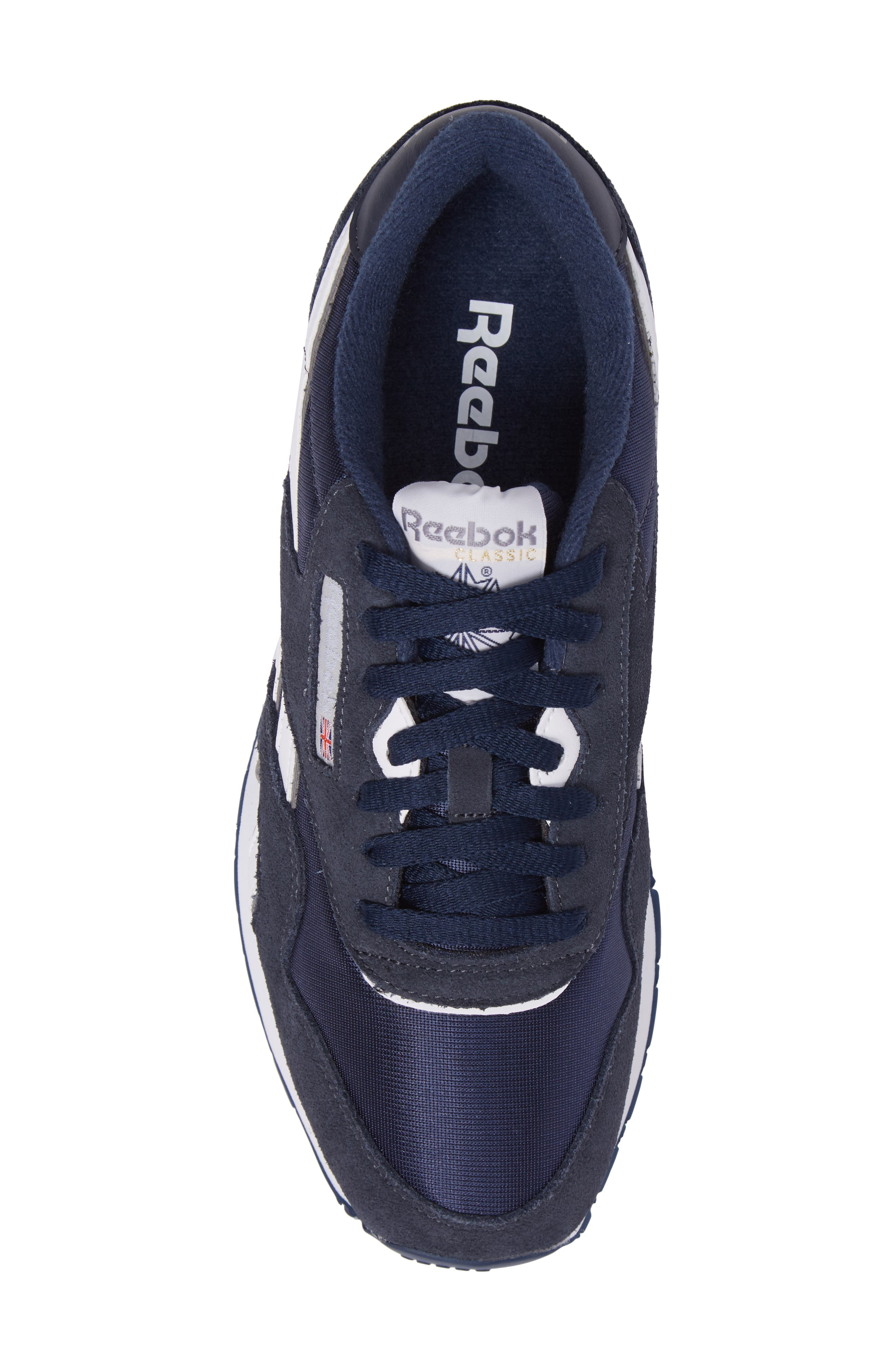 Classic Nylon Sneaker,                             Alternate thumbnail 5, color,                             TEAM NAVY/ PLATINUM