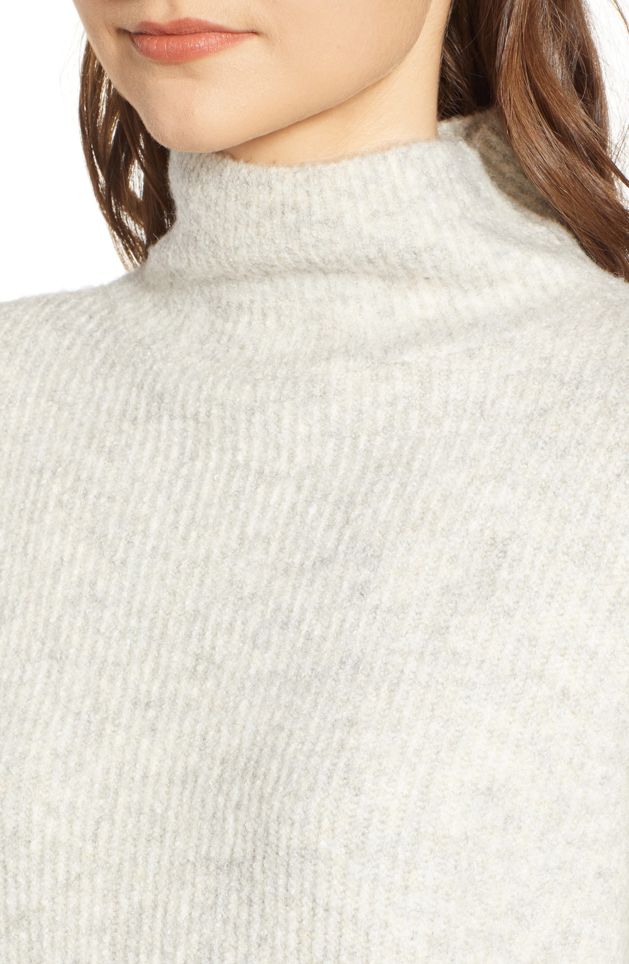 Urban Flossy Cowl Neck Sweater,                             Alternate thumbnail 4, color,                             OATMEAL