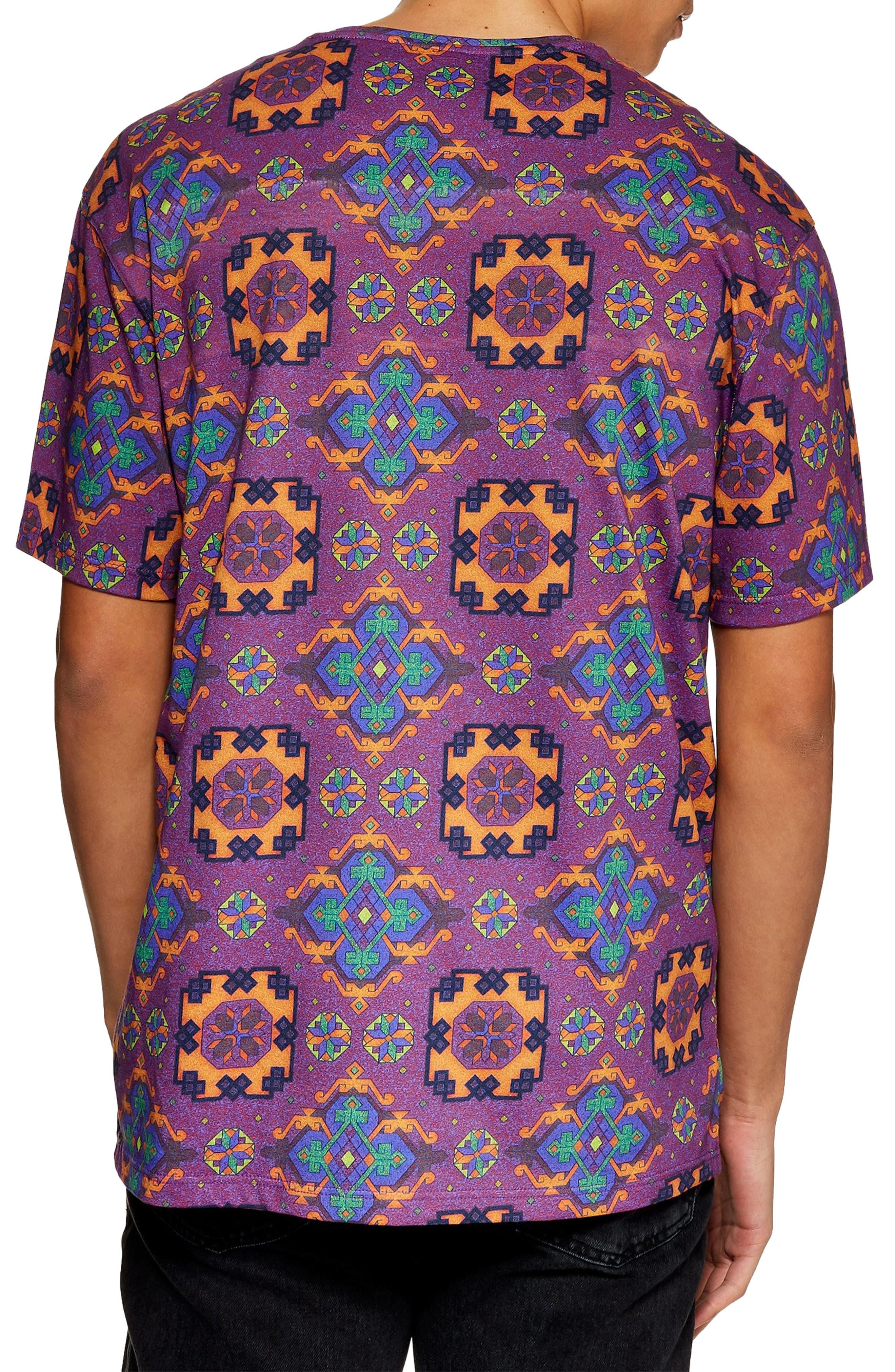Tapestry Print Pocket T-Shirt,                             Alternate thumbnail 2, color,                             500
