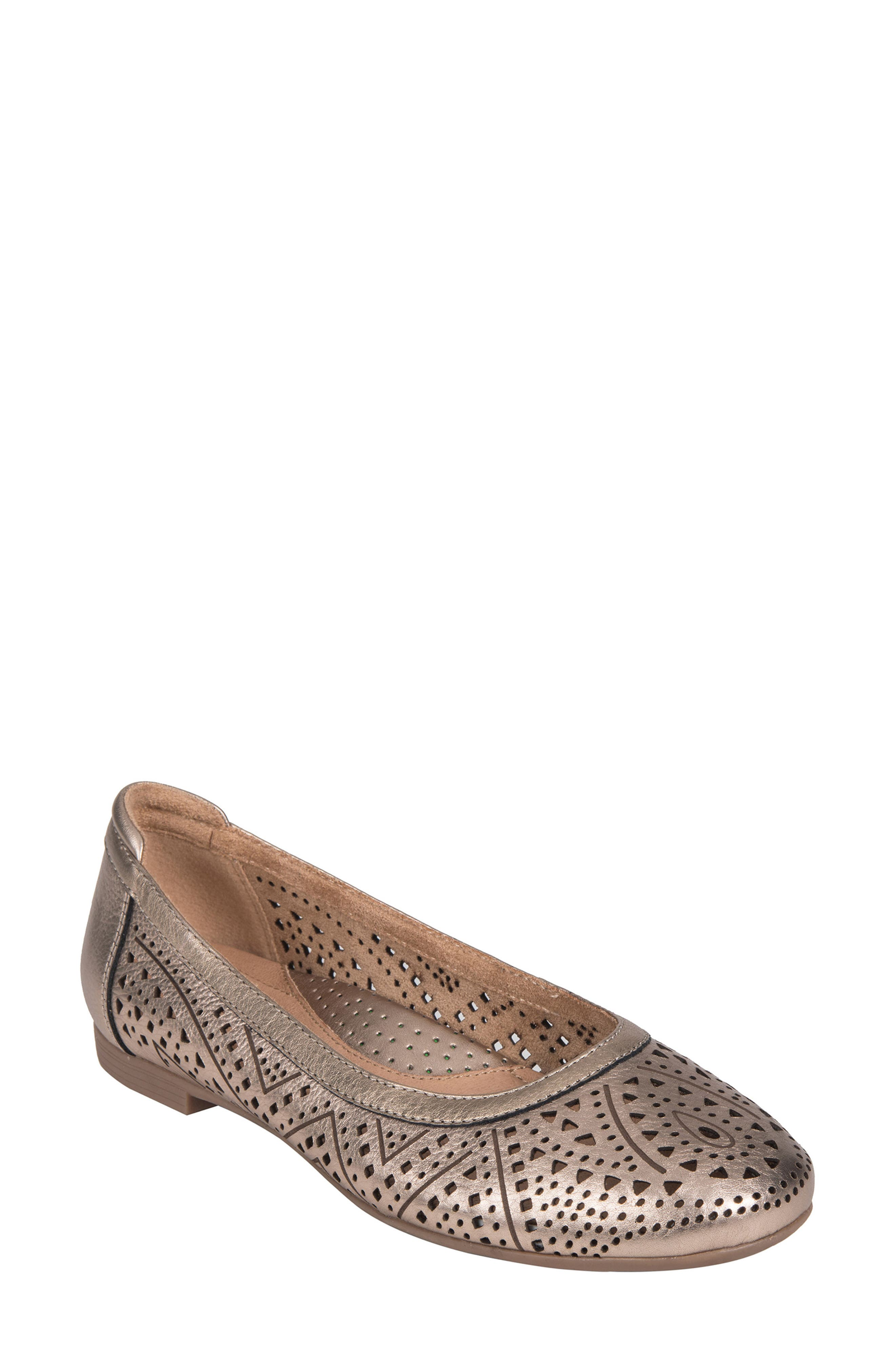 Royal Flat,                         Main,                         color, CHAMPAGNE METALLIC LEATHER