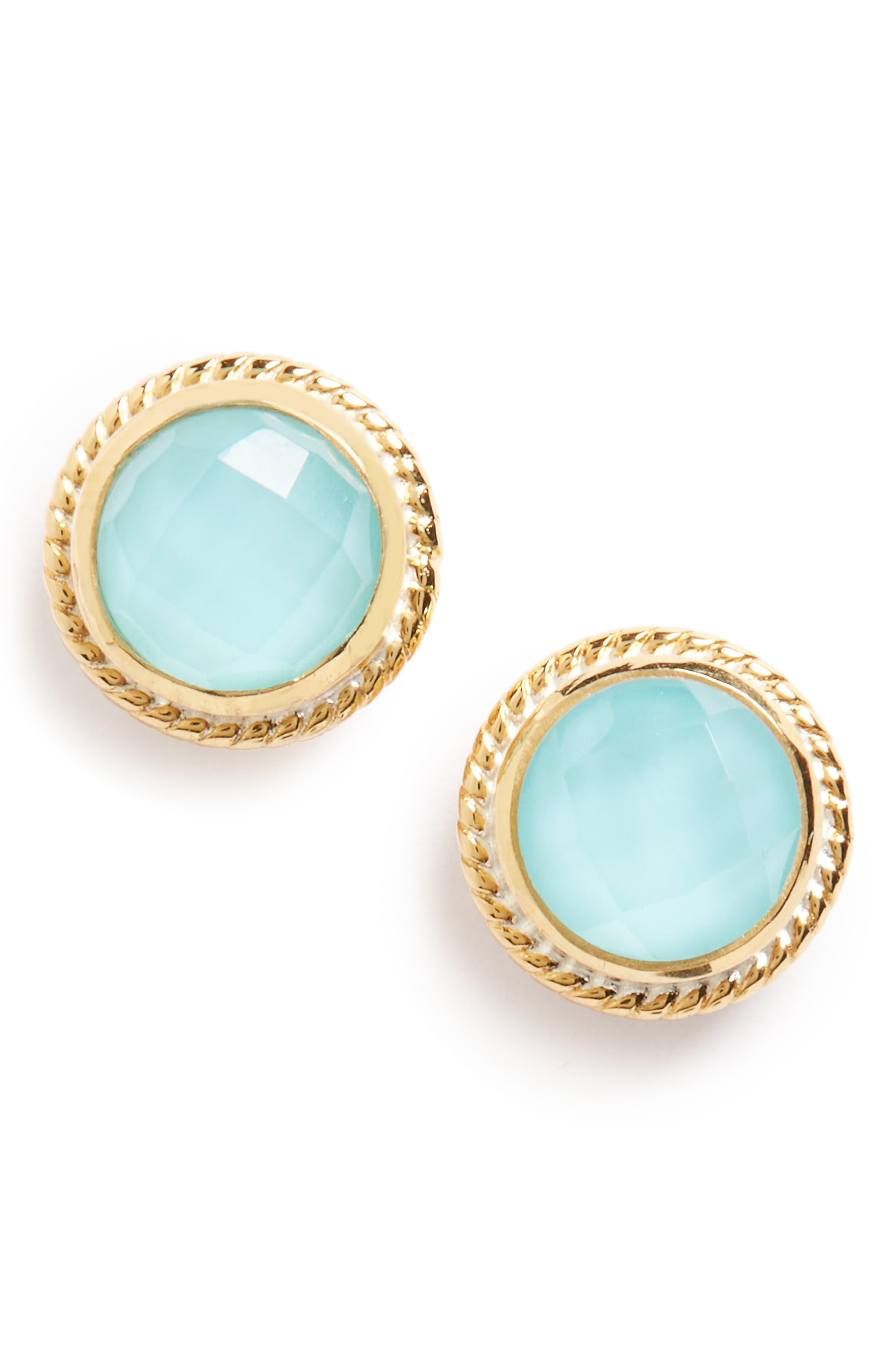 Stone Stud Earrings,                             Main thumbnail 12, color,