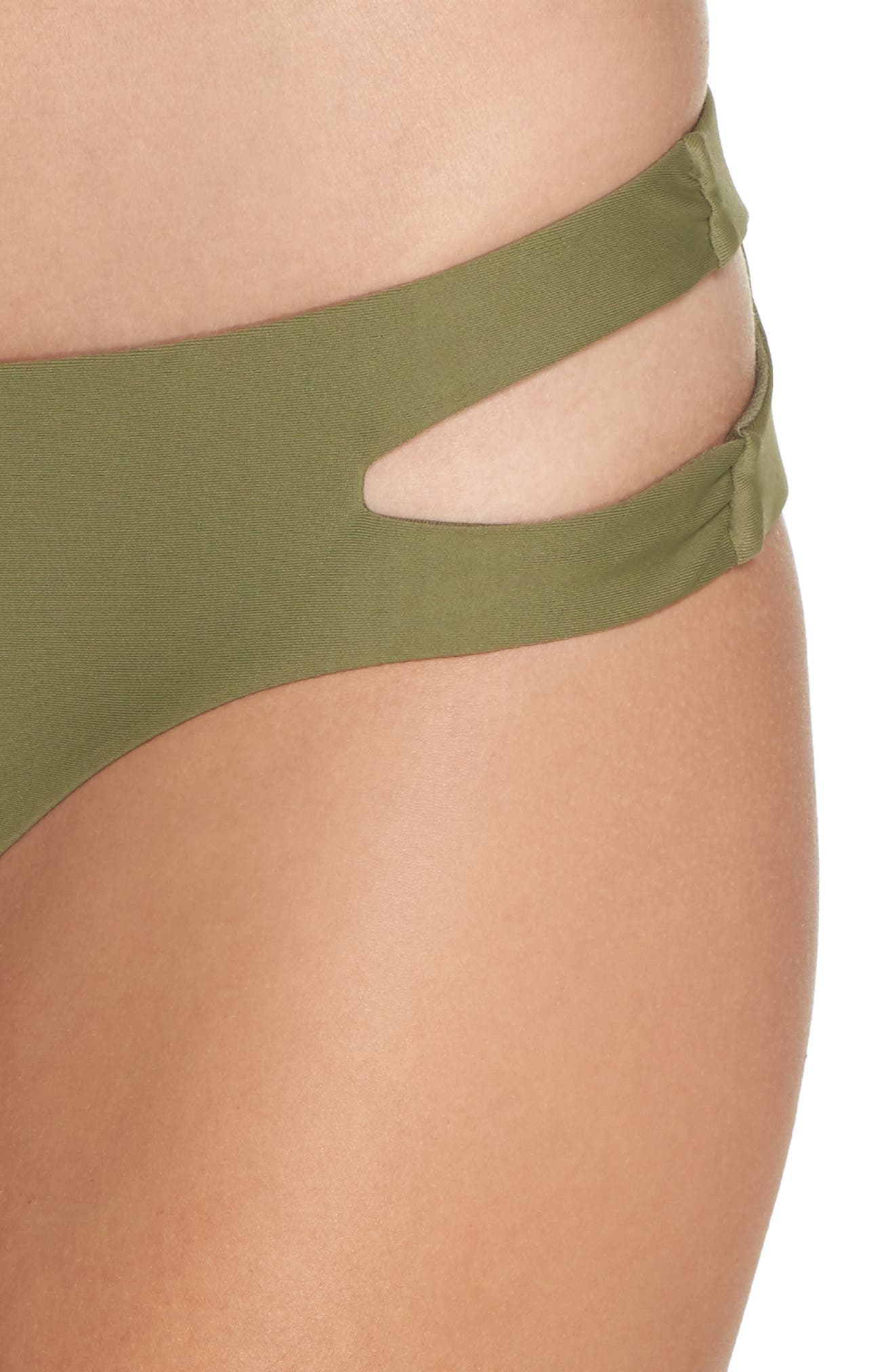 Cutout Hipster Bikini Bottoms,                             Alternate thumbnail 7, color,