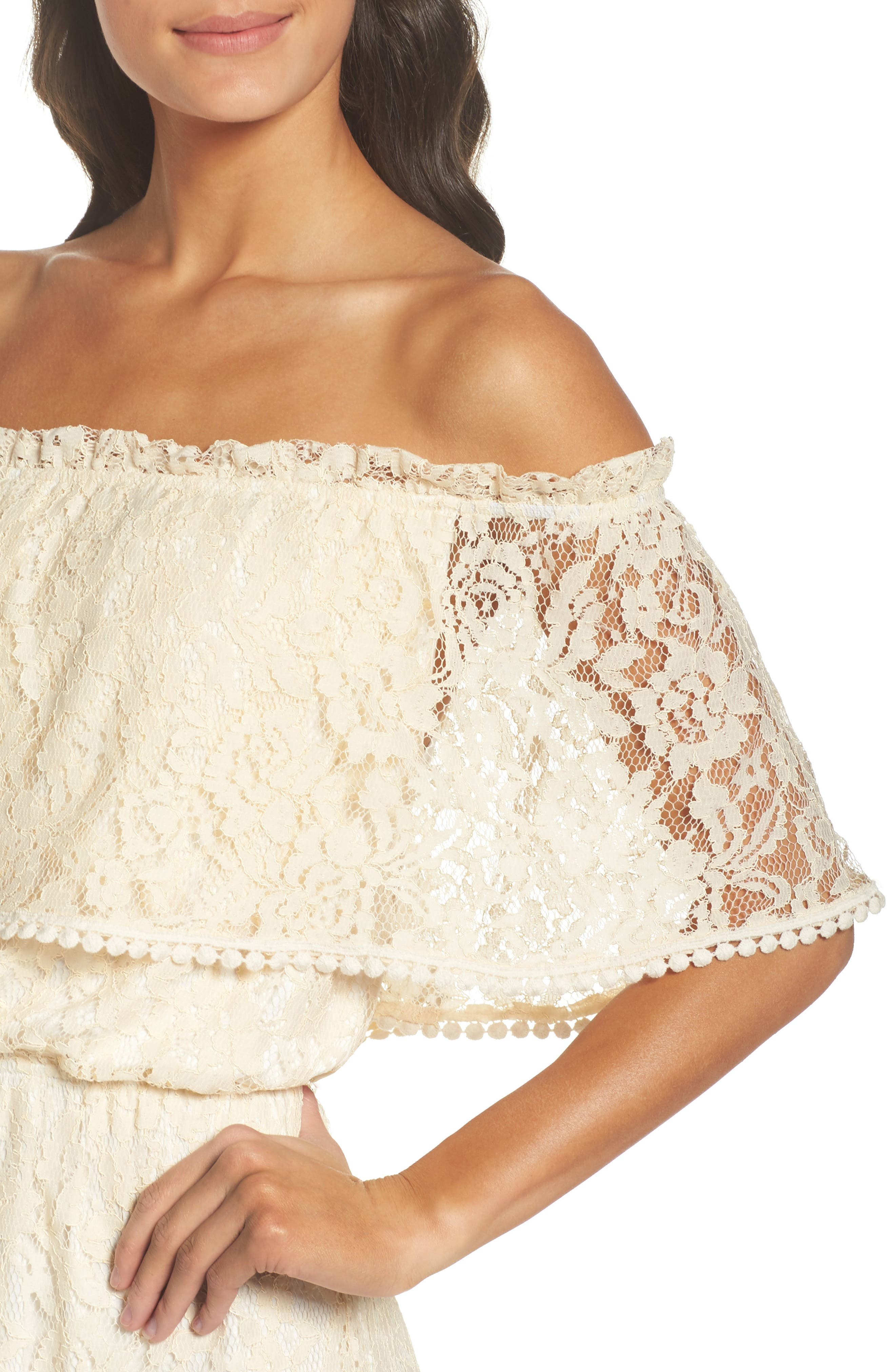 Popover Midi Dress,                             Alternate thumbnail 4, color,                             MELODY