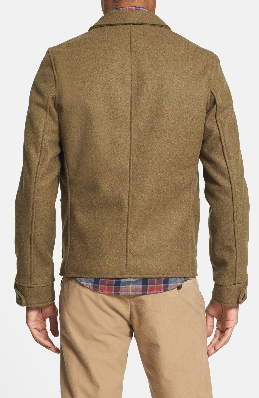 Wool Military Jacket,                             Alternate thumbnail 3, color,                             360