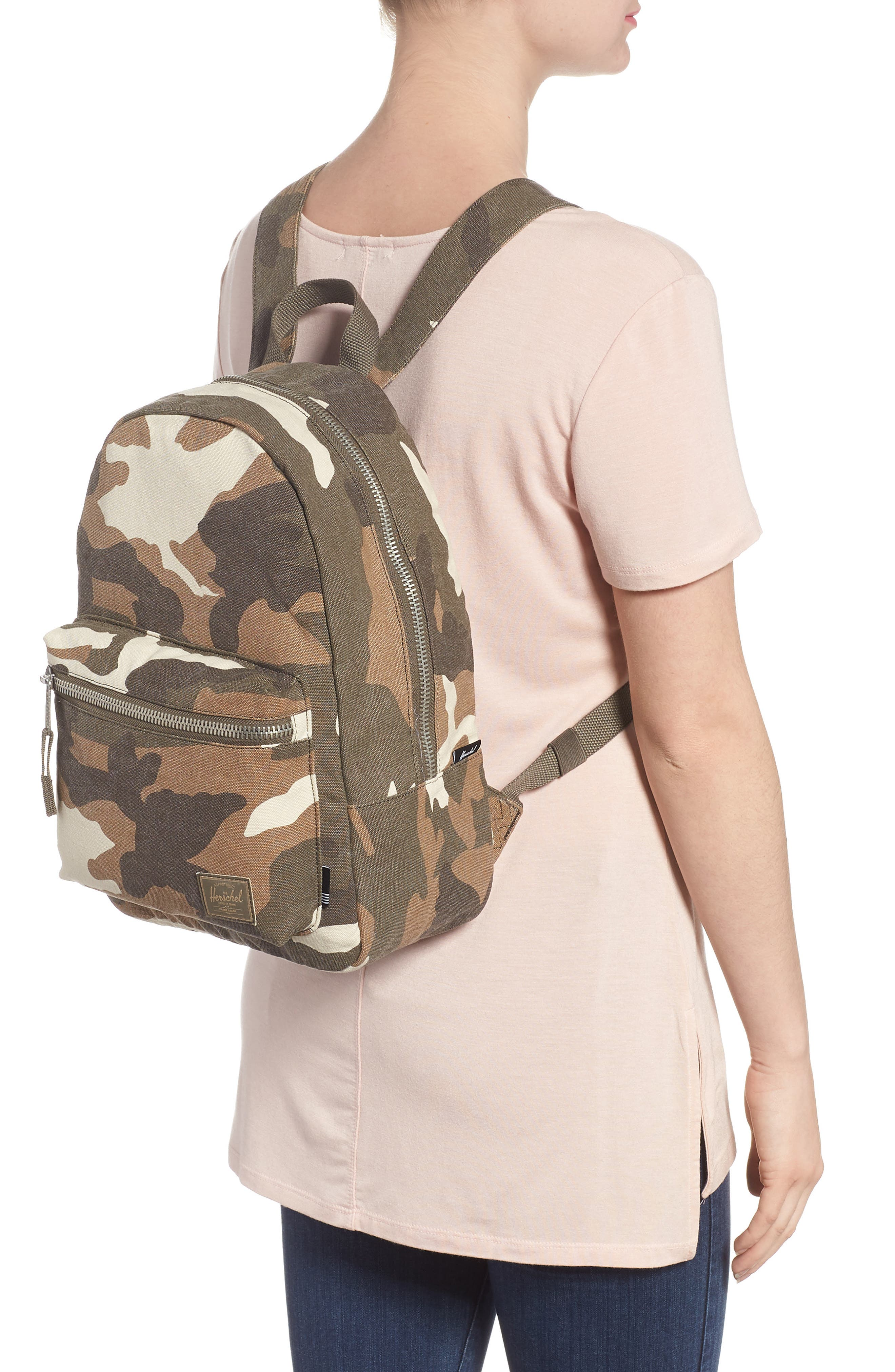 X-Small Grove Cotton Canvas Backpack,                             Alternate thumbnail 7, color,