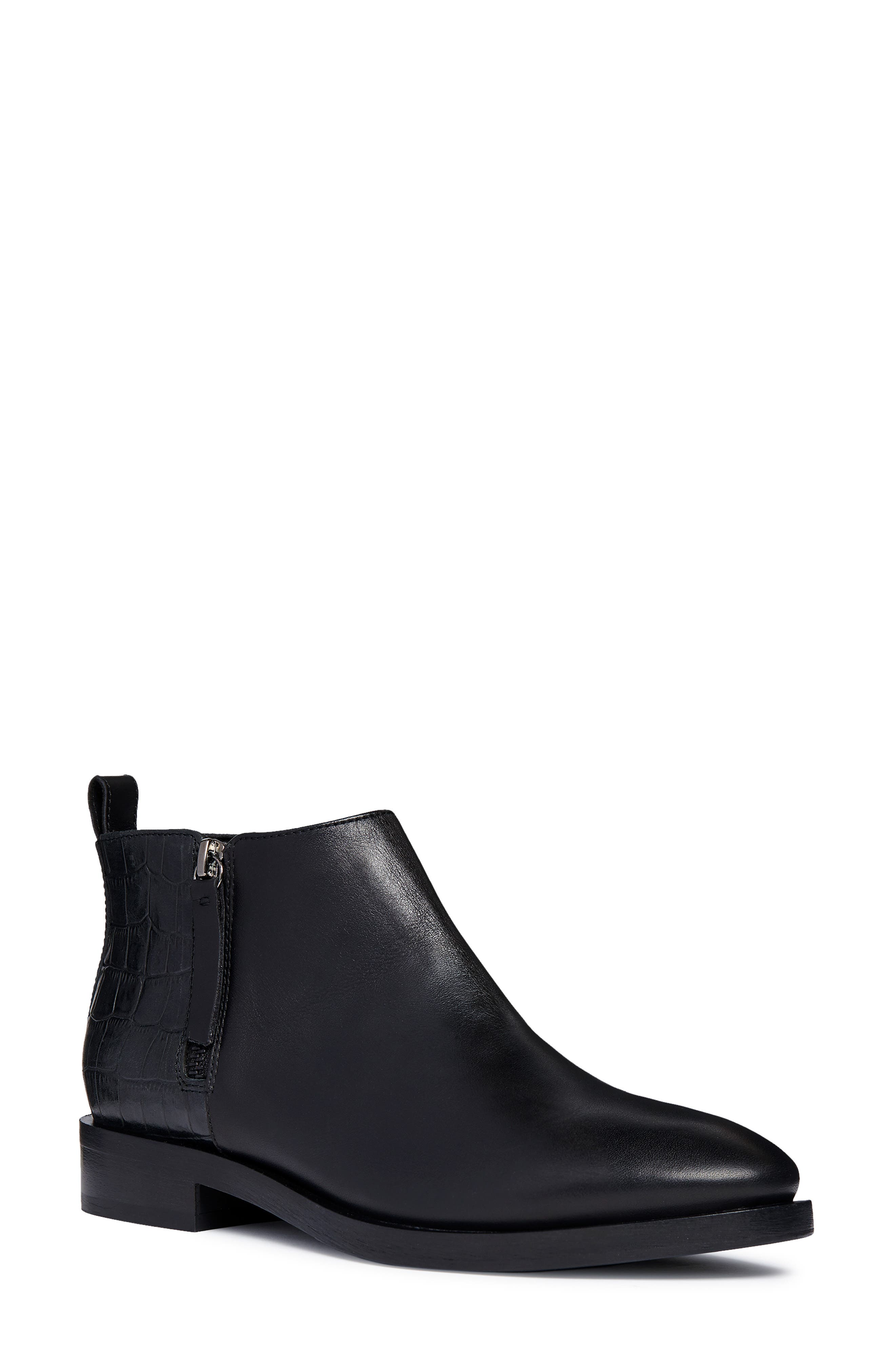Brogue Bootie,                         Main,                         color, BLACK LEATHER