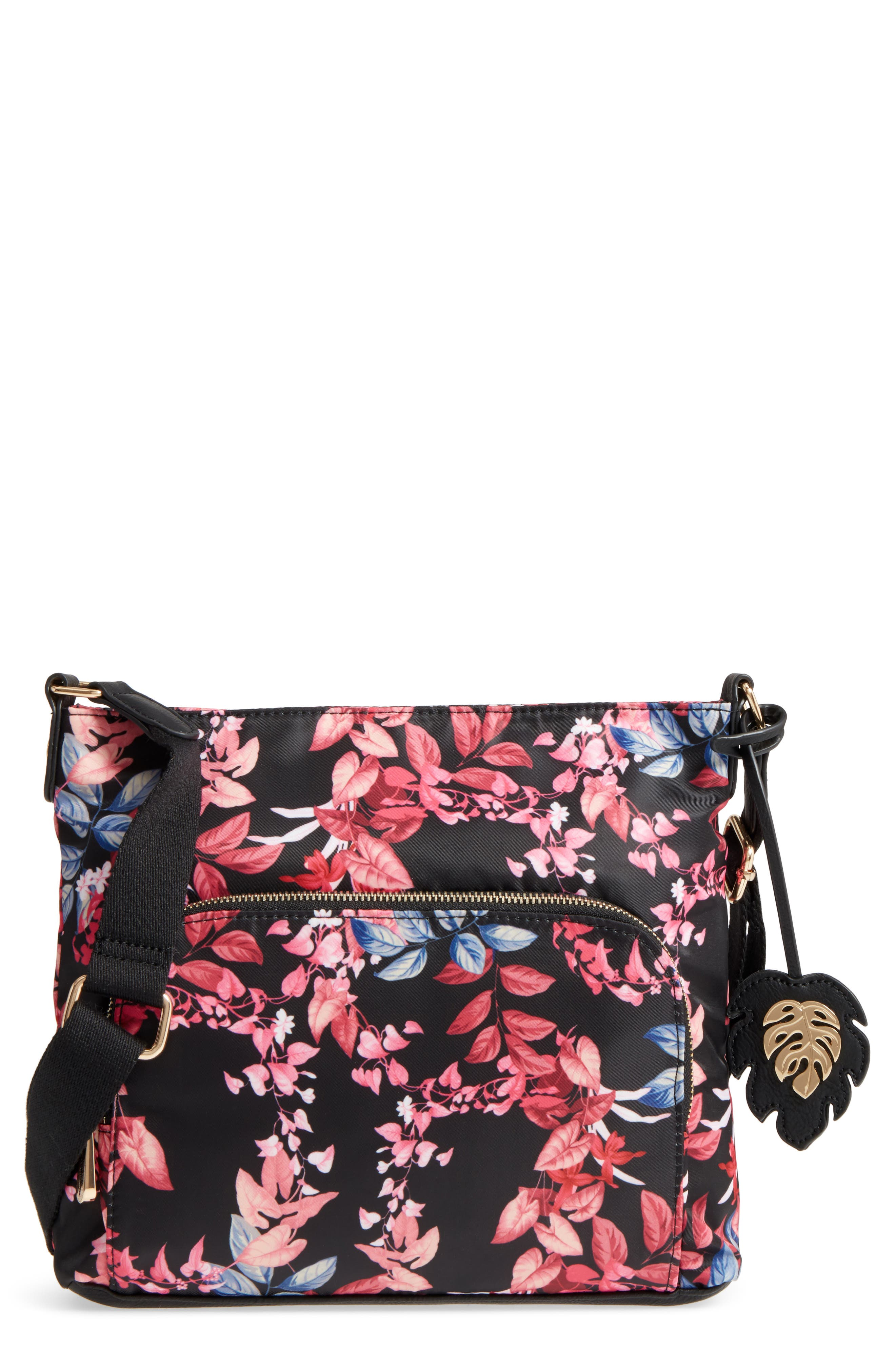 Siesta Key Waterproof Nylon Crossbody Bag,                             Main thumbnail 1, color,                             001