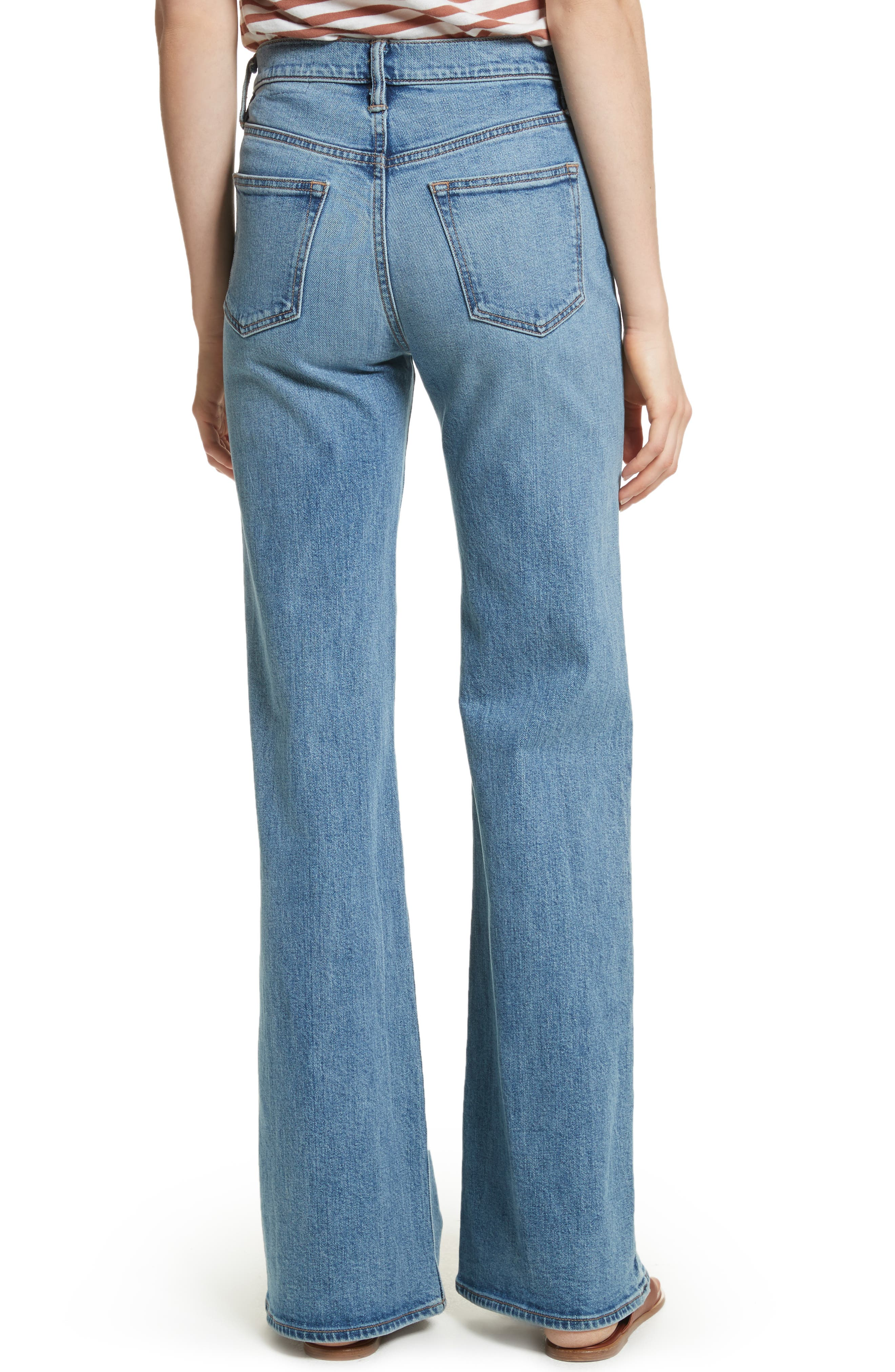 Wide Flare Leg Jeans,                             Alternate thumbnail 2, color,                             482
