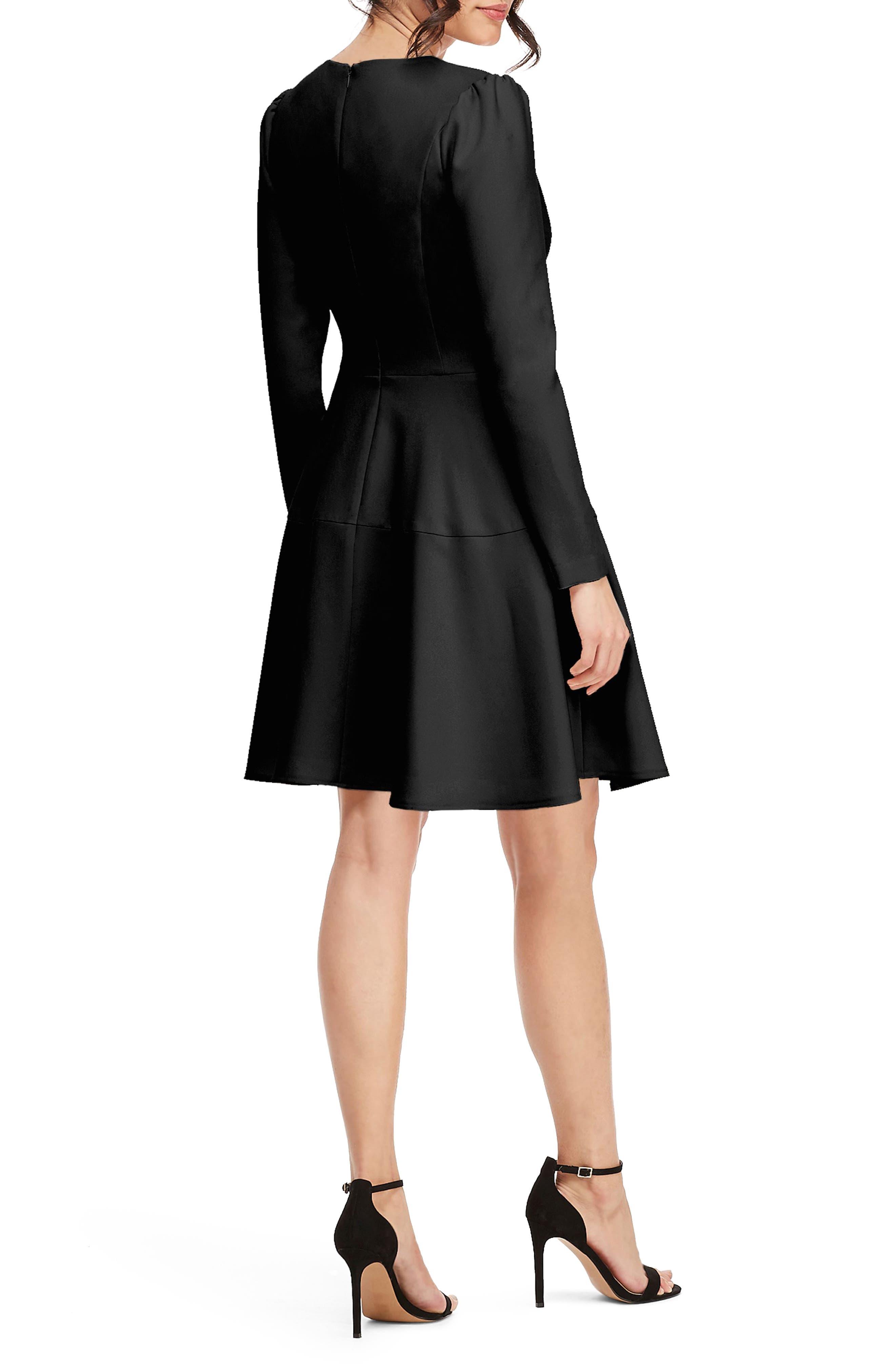 Celeste Fit & Flare Dress,                             Alternate thumbnail 2, color,                             BLACK