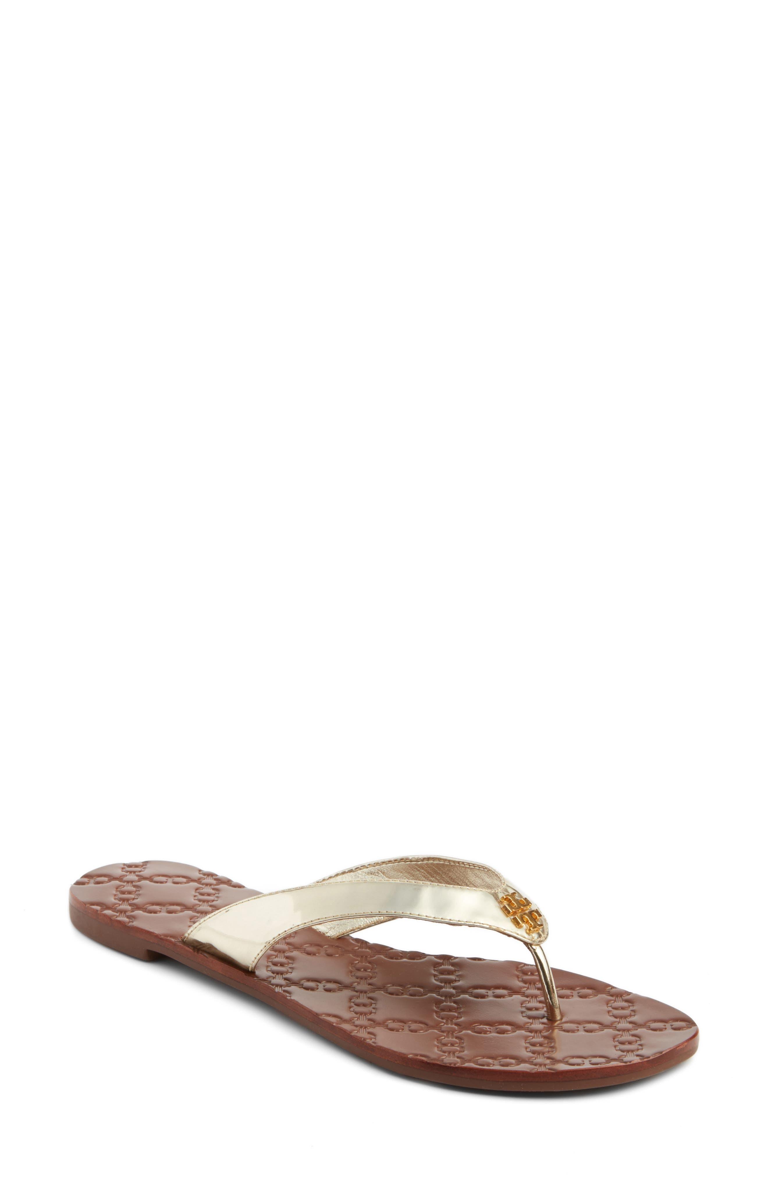 Monroe Flip Flop,                         Main,                         color, GOLD