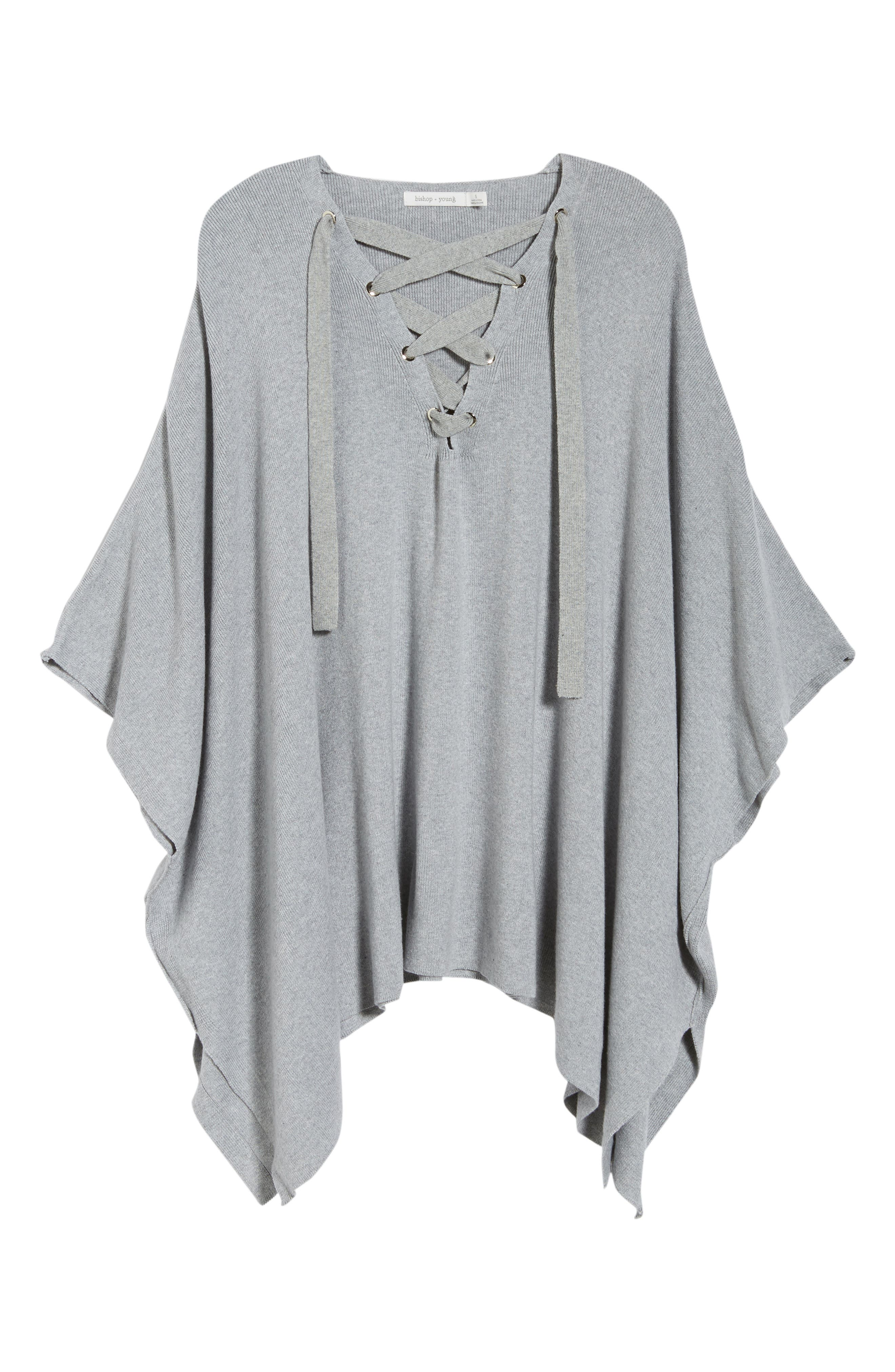 Bishop + Young Harper Lace-Up Poncho,                             Alternate thumbnail 6, color,                             035