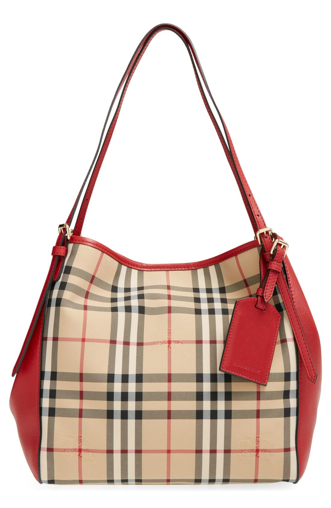 BURBERRY 'Horseferry Check - Small Canterbury' Tote, Main, color, 600