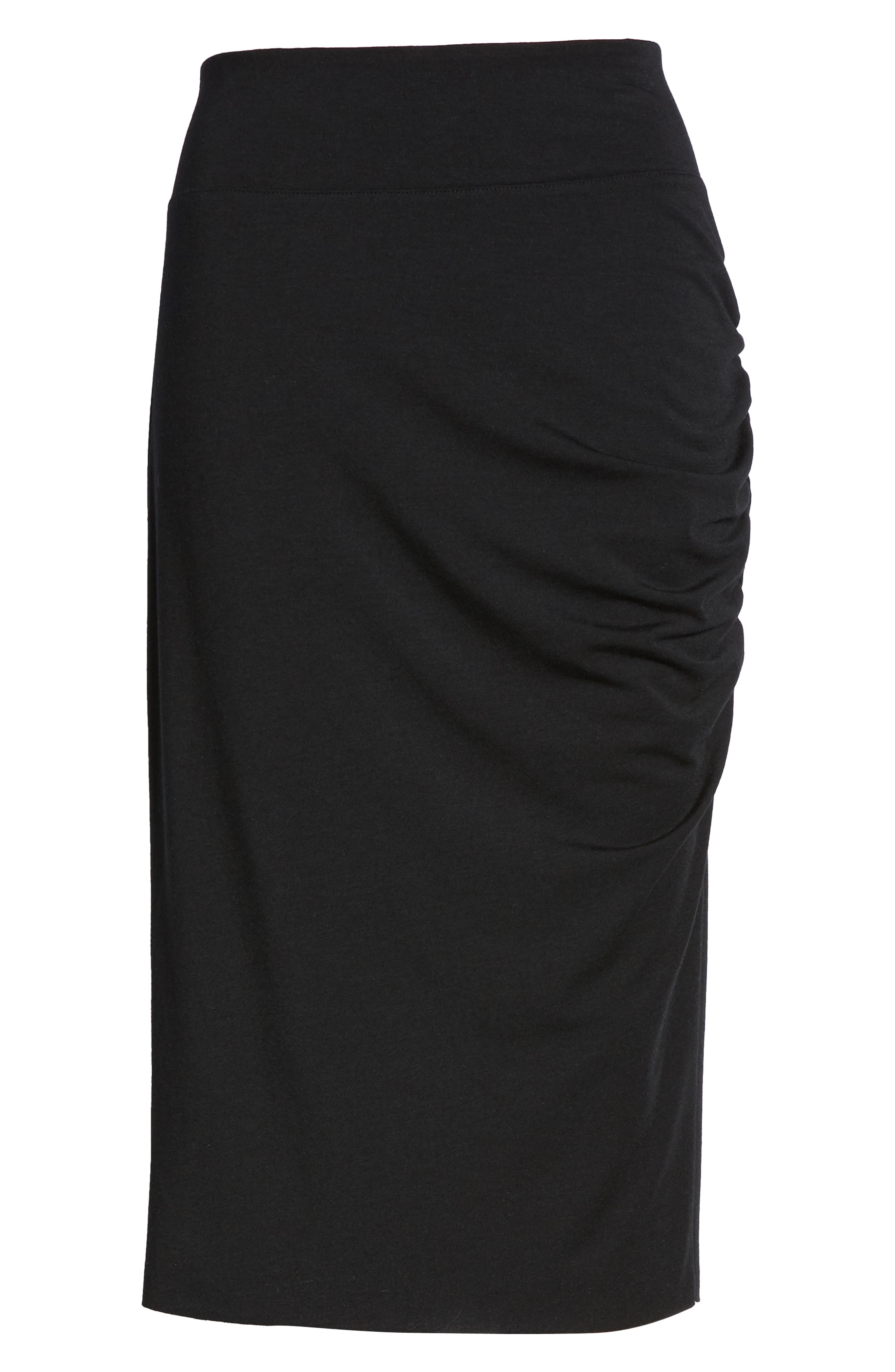 Ruched Knit Midi Skirt,                             Alternate thumbnail 11, color,