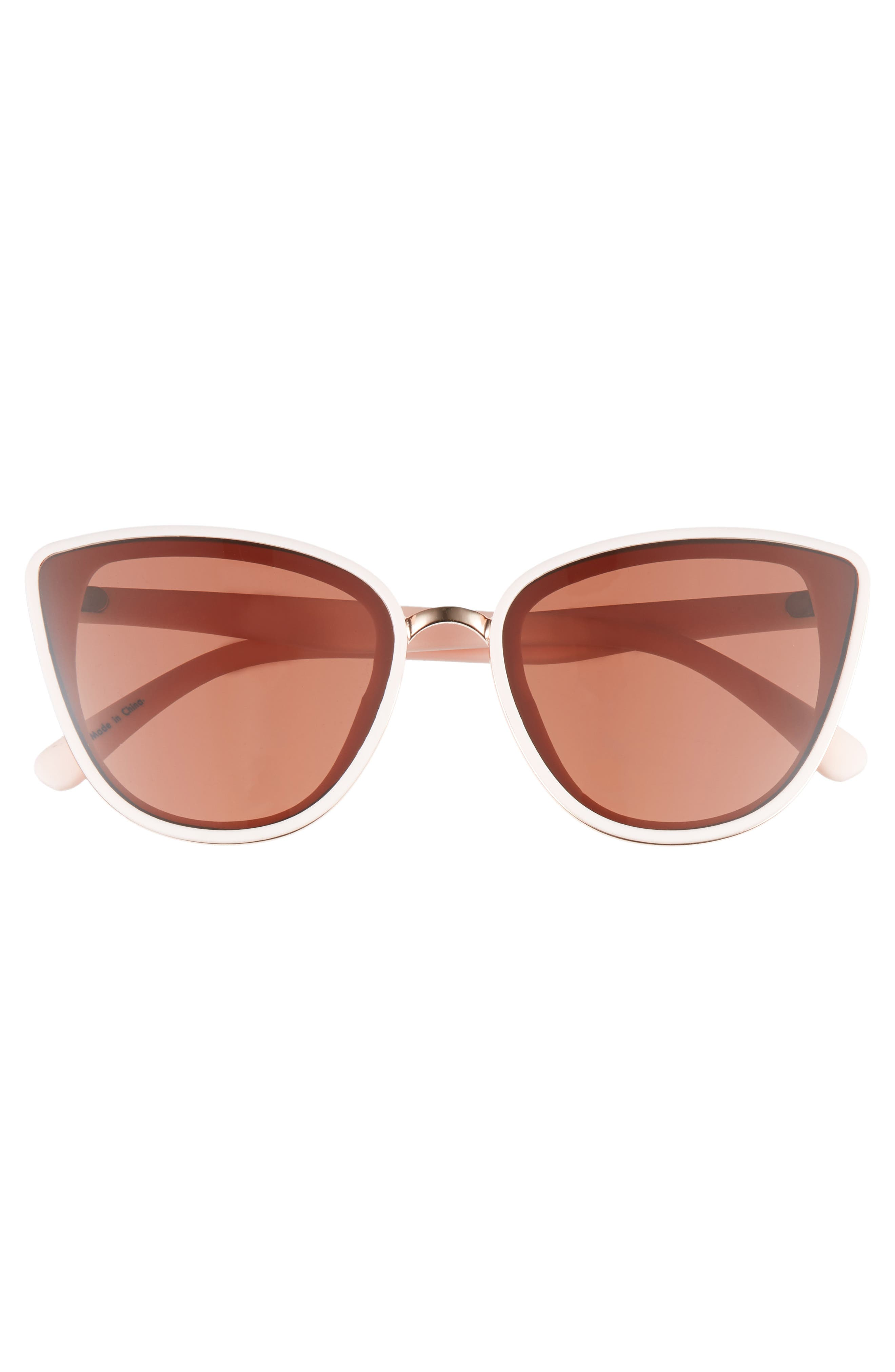 59mm Perfect Cat Eye Sunglasses,                             Alternate thumbnail 3, color,                             PINK