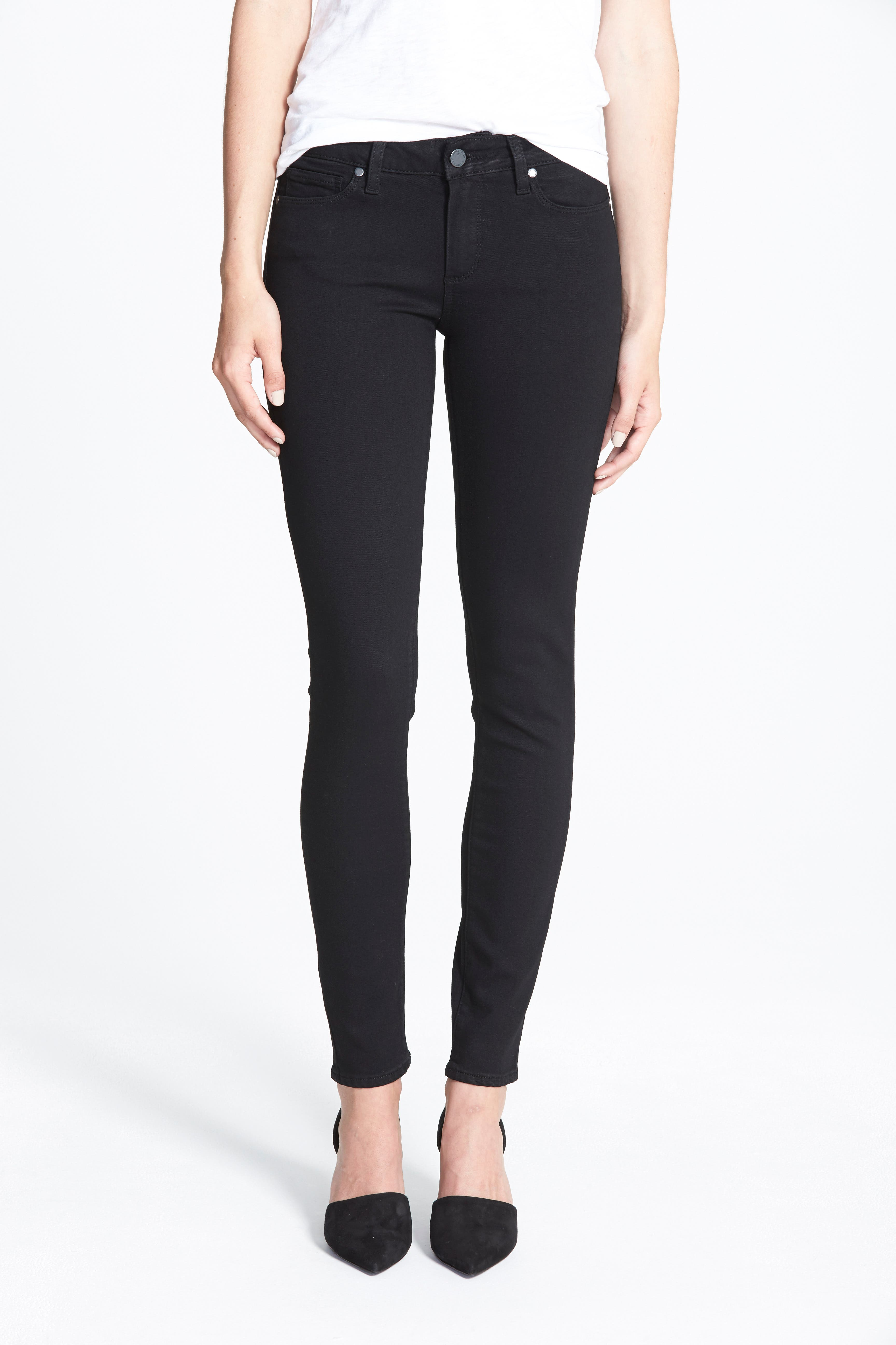 Transcend - Verdugo Ultra Skinny Jeans,                         Main,                         color, BLACK SHADOW