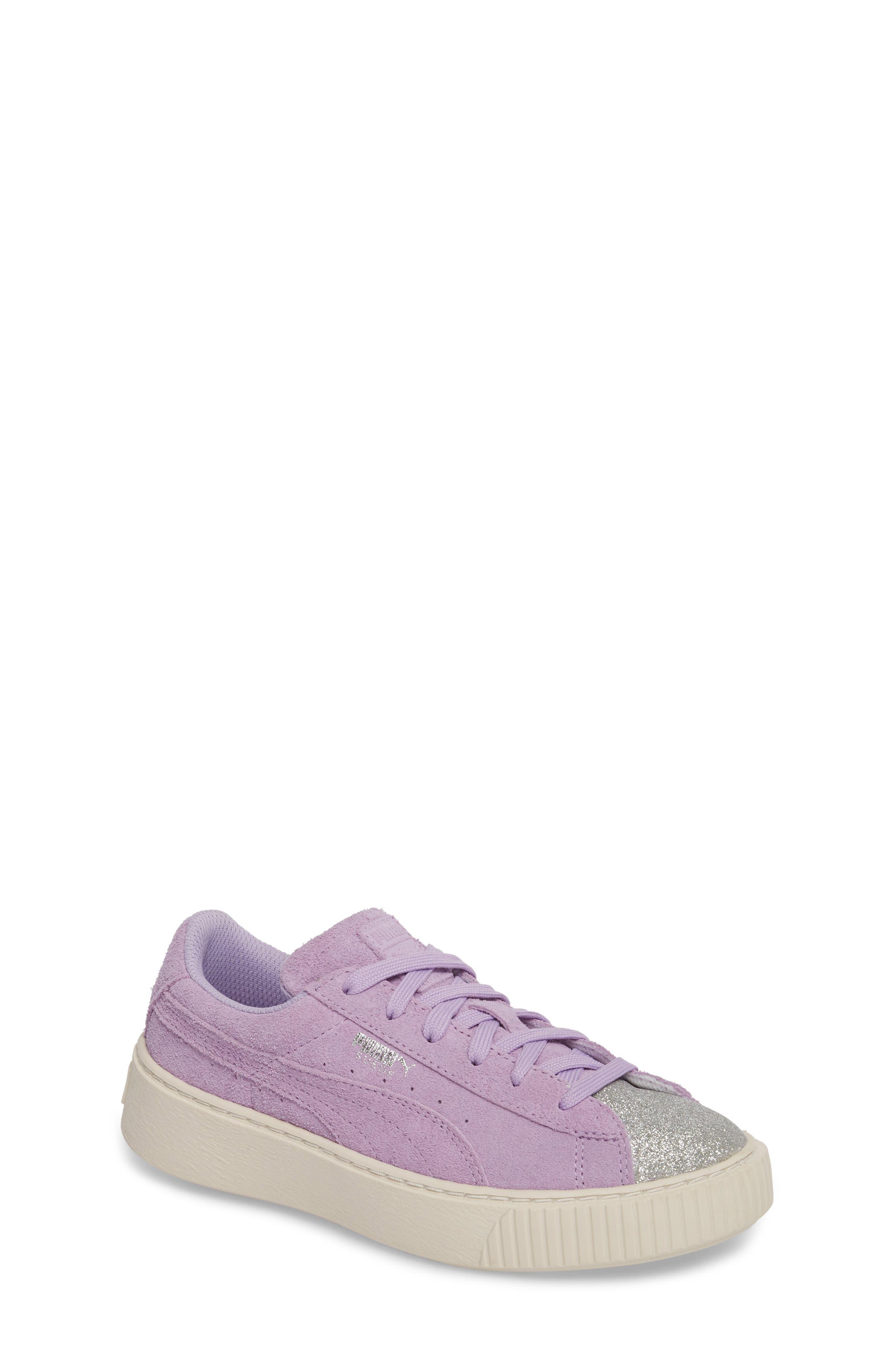 Suede Platform Glam PS Sneaker,                             Main thumbnail 3, color,