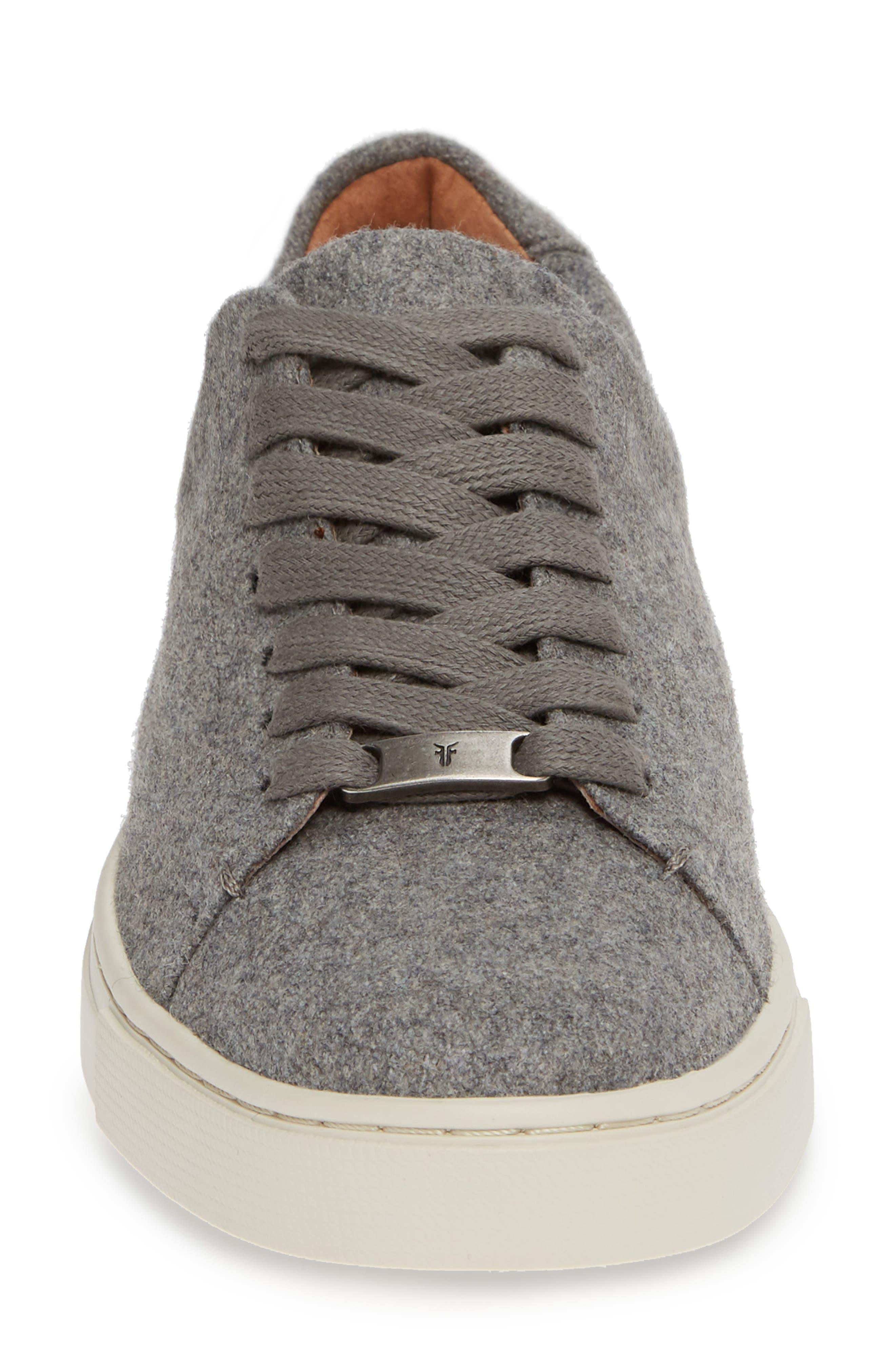 Ivy Sneaker,                             Alternate thumbnail 4, color,                             GREY WOOL FABRIC