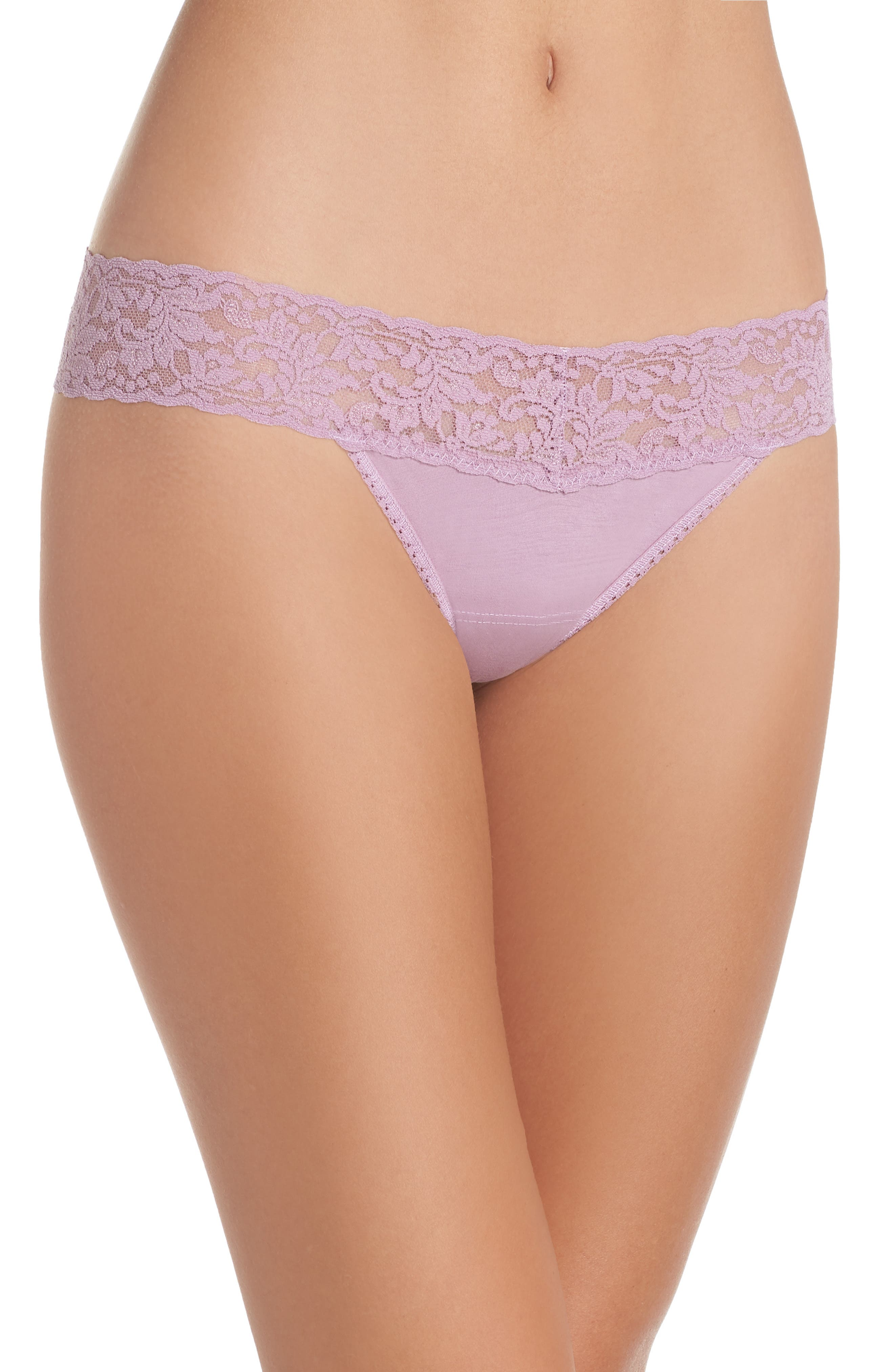 Low Rise Thong,                         Main,                         color, WATER LILY