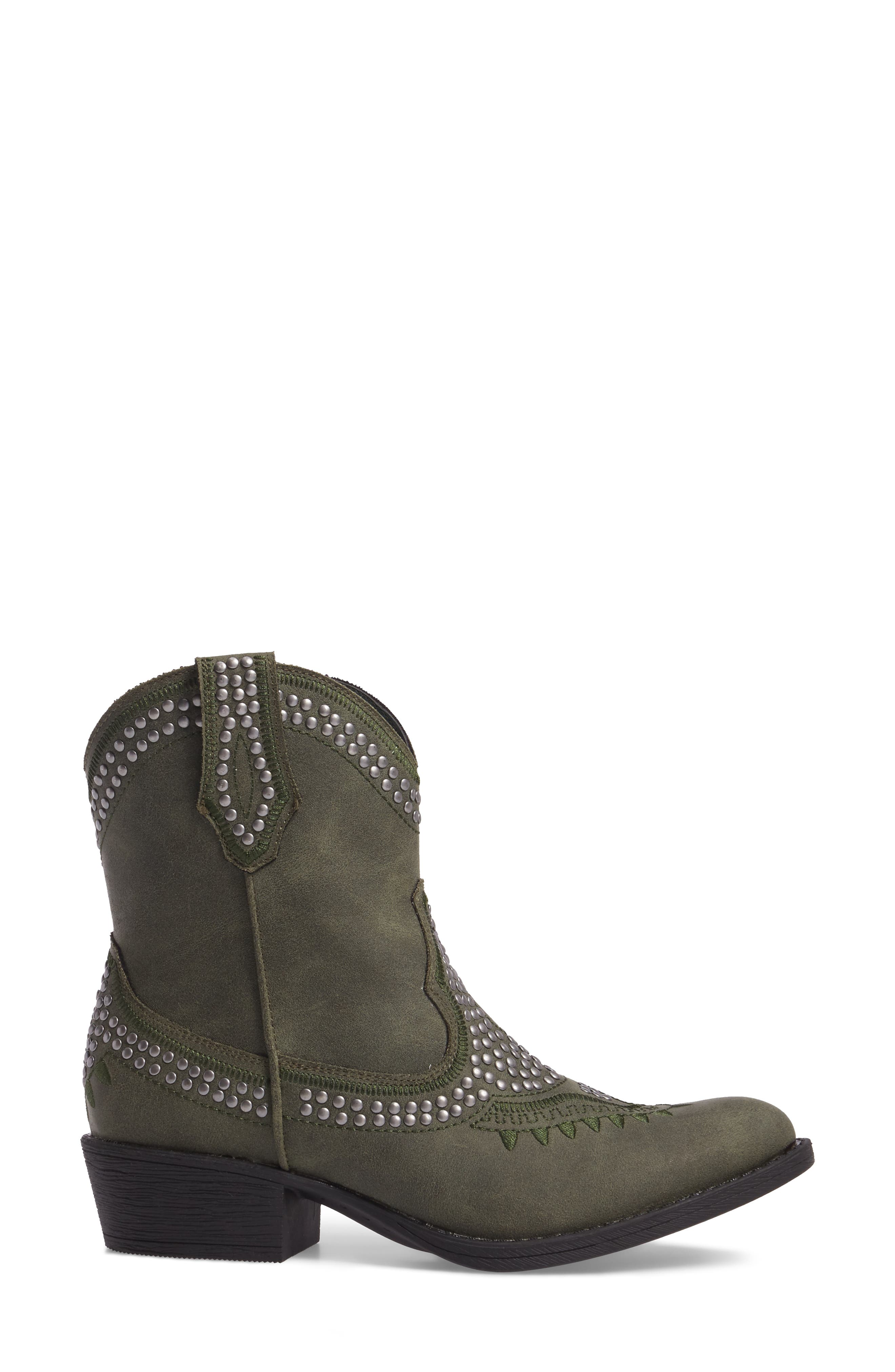 Amour Embellished Western Bootie,                             Alternate thumbnail 9, color,